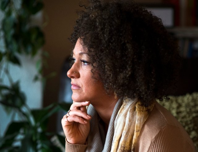 Rachel Dolezal, president of the Spokane chapter of the NAACP, poses for a photo in her Spokane, Wash. home on March 2, 2015.