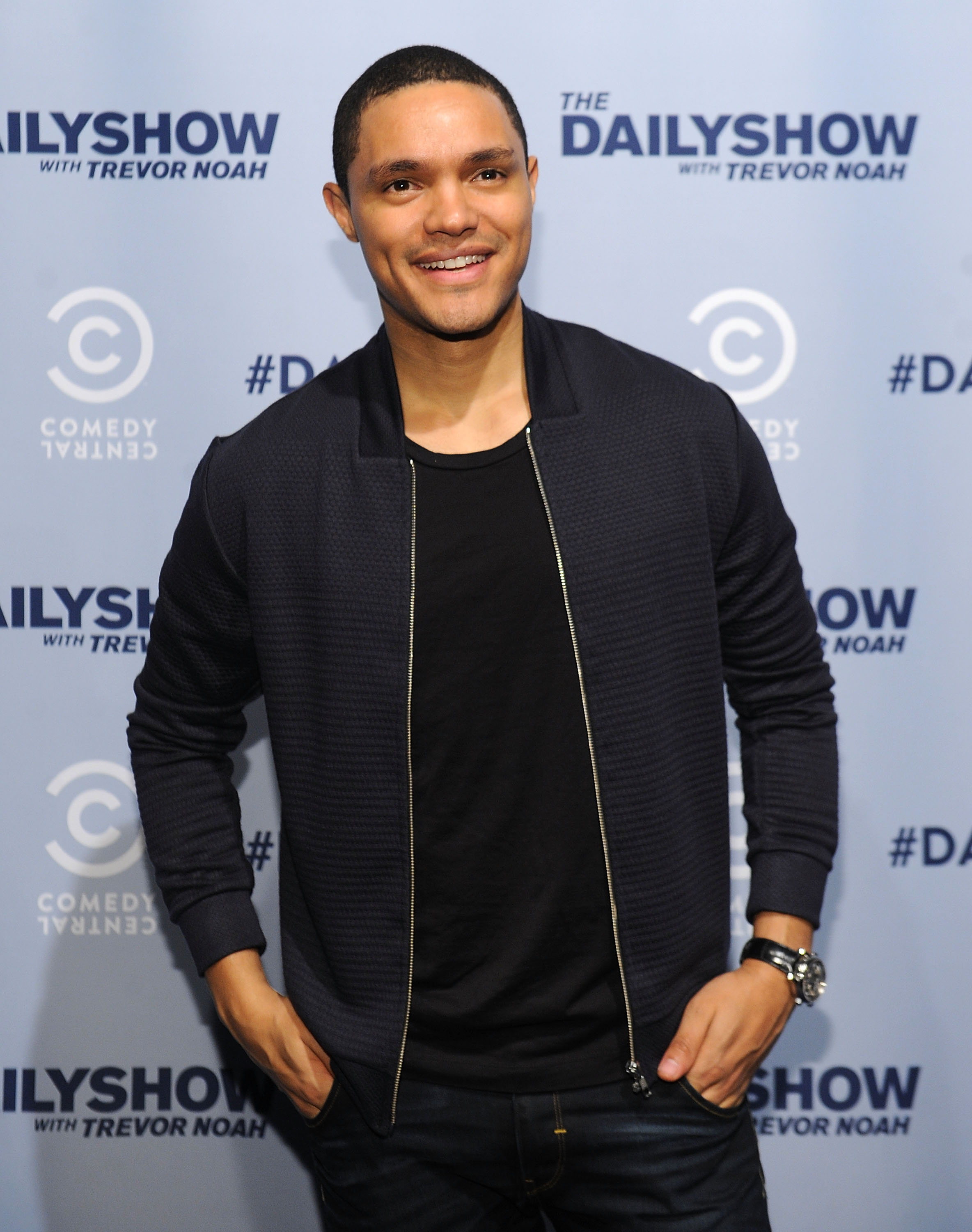 Trevor Noah attends Comedy Central's The Daily Show With Trevor Noah Premiere Party Event in New York City on Oct. 22, 2015.