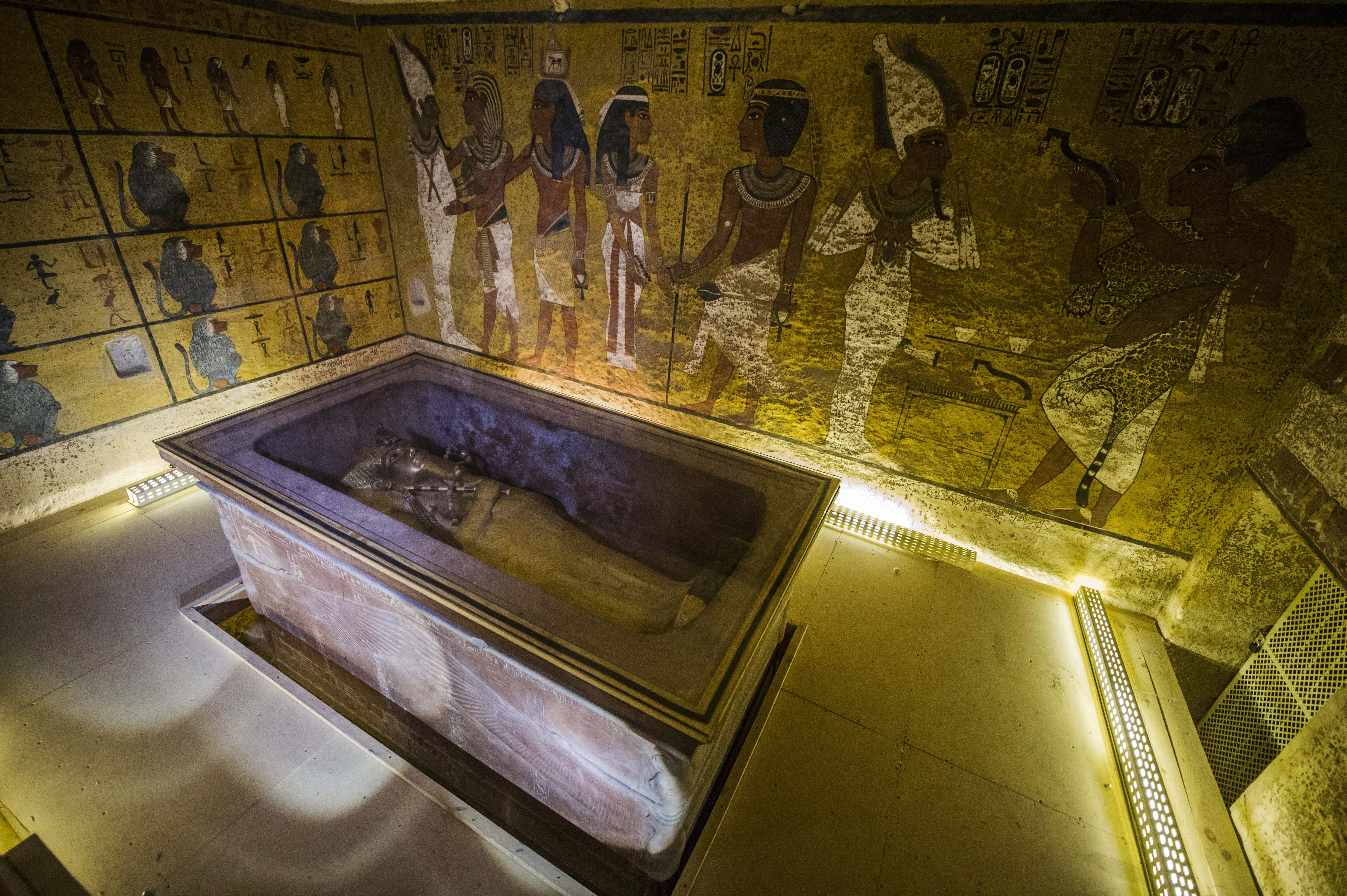 The sarcophagus of King Tutankhamun displayed in his burial chamber in the Valley of the Kings, close to Luxor, Egypt on Nov. 28, 2015.