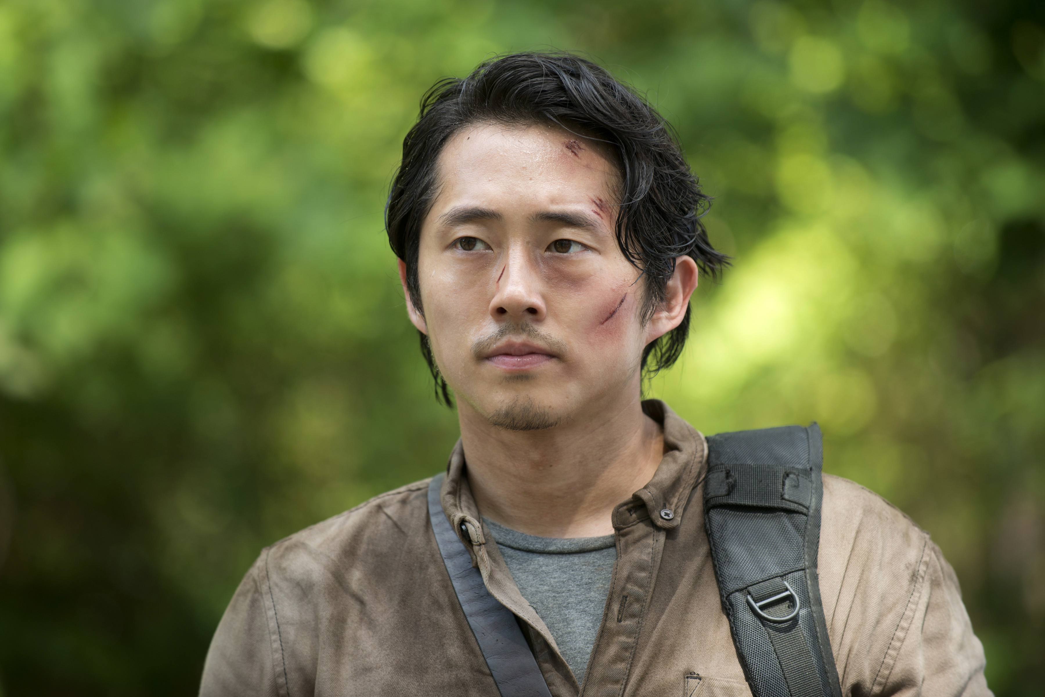 Steven Yeun as Glenn Rhee in The Walking Dead,  season 6, episode 3.