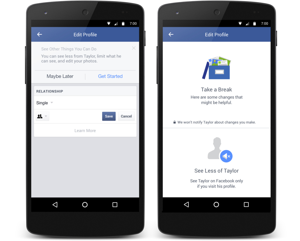 Facebook Relationship Change
