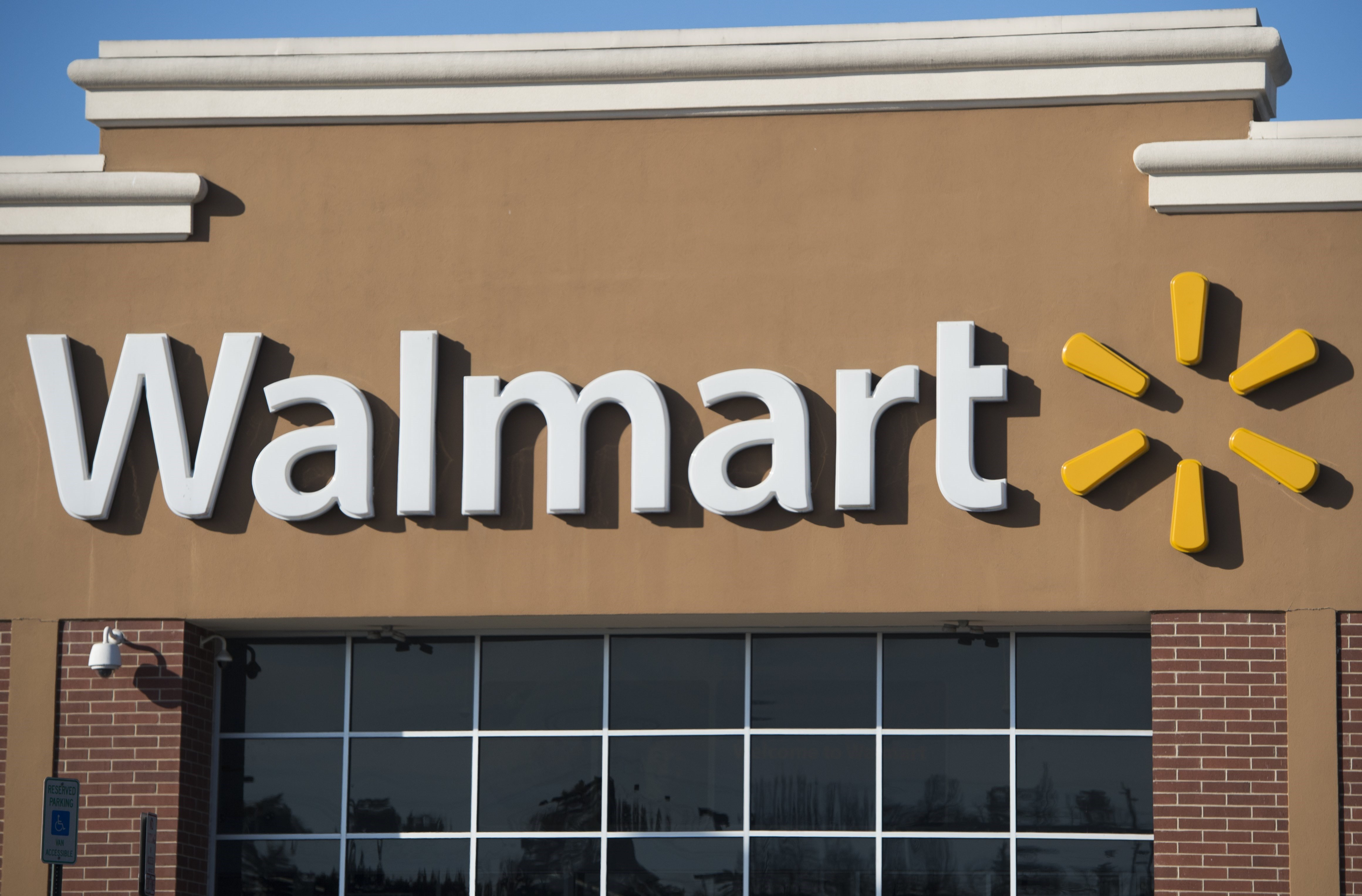 This December 31, 2014 file photo shows A Walmart store in Landover, Maryland.