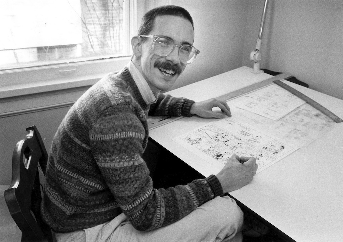 Bill Watterson, creator of the syndicated cartoon strip  Calvin & Hobbes  is shown in this Feb. 24, 1986 file photo at his home in Chagrin Falls, Ohio.