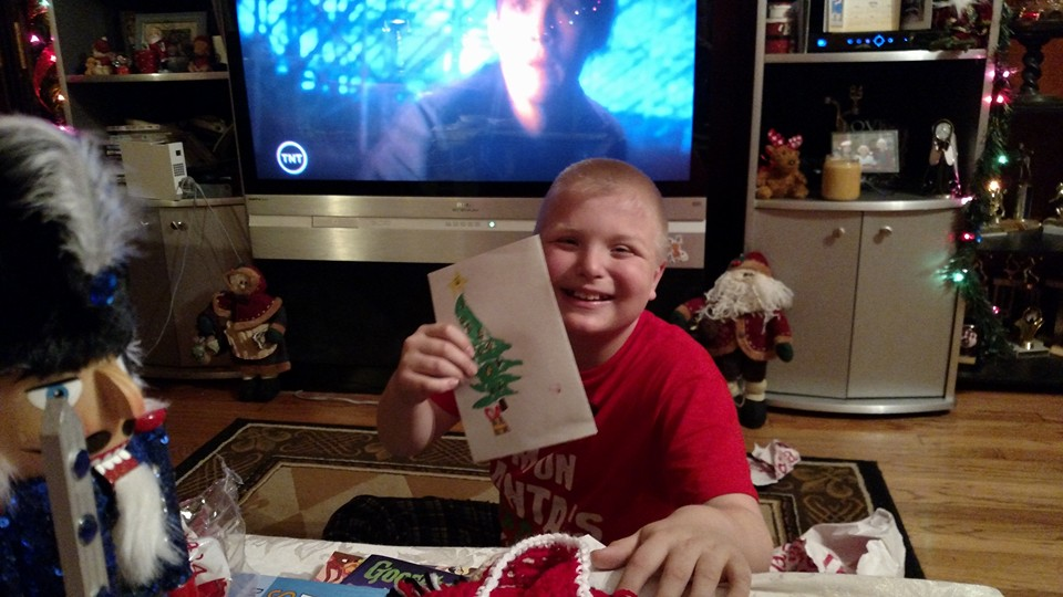 Sean Stewart, 10, has received over 3,500 Christmas cards after his letter campaign went viral.