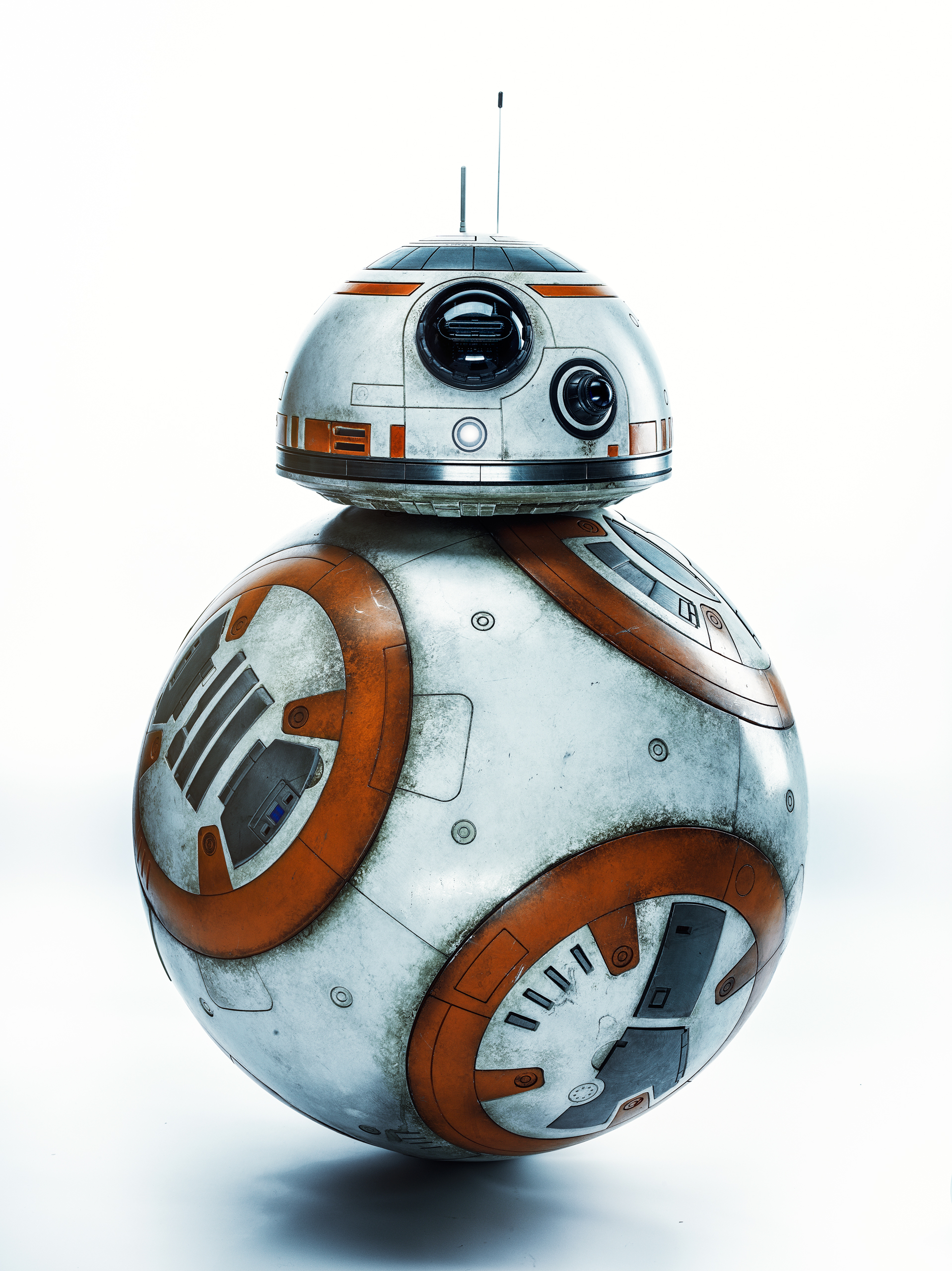 Abrams was determined to use as little CGI as possible, so he made BB-8—a fully functioning robot—who has already become an iconic character.