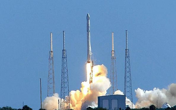 SpaceX Falcon 9 lifts off from the launch pad at the Cape Canaveral Air Force Station on June 28, 2015, in Cape Canaveral, Fla. After the launch the rocket exploded