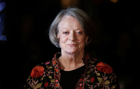 Maggie Smith arrives at  The Lady In The Van  - Centrepiece Gala, at Odeon Leicester Square on October 13, 2015 in London, England