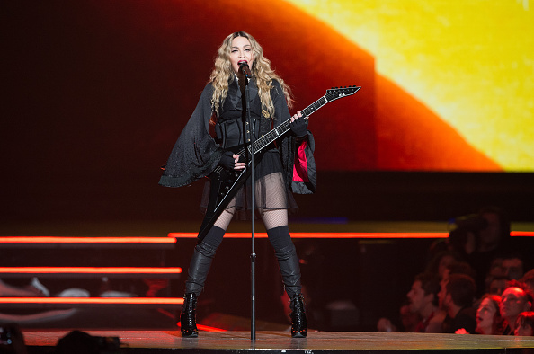 Madonna performs at AccorHotels Arena on December 9, 2015 in Paris, France