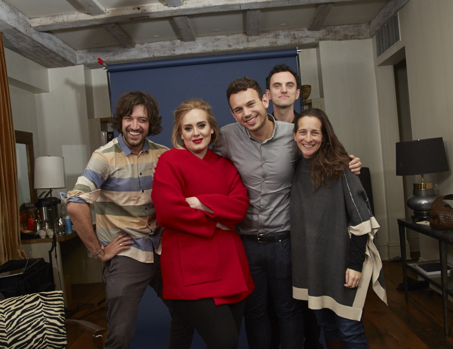 The TIME Photo and editorial team with Adele