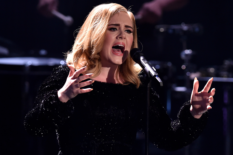 Adele attends the television show 2015! Menschen, Bilder, Emotionen - RTL Jahresrueckblick on December 6, 2015 in Cologne, Germany.