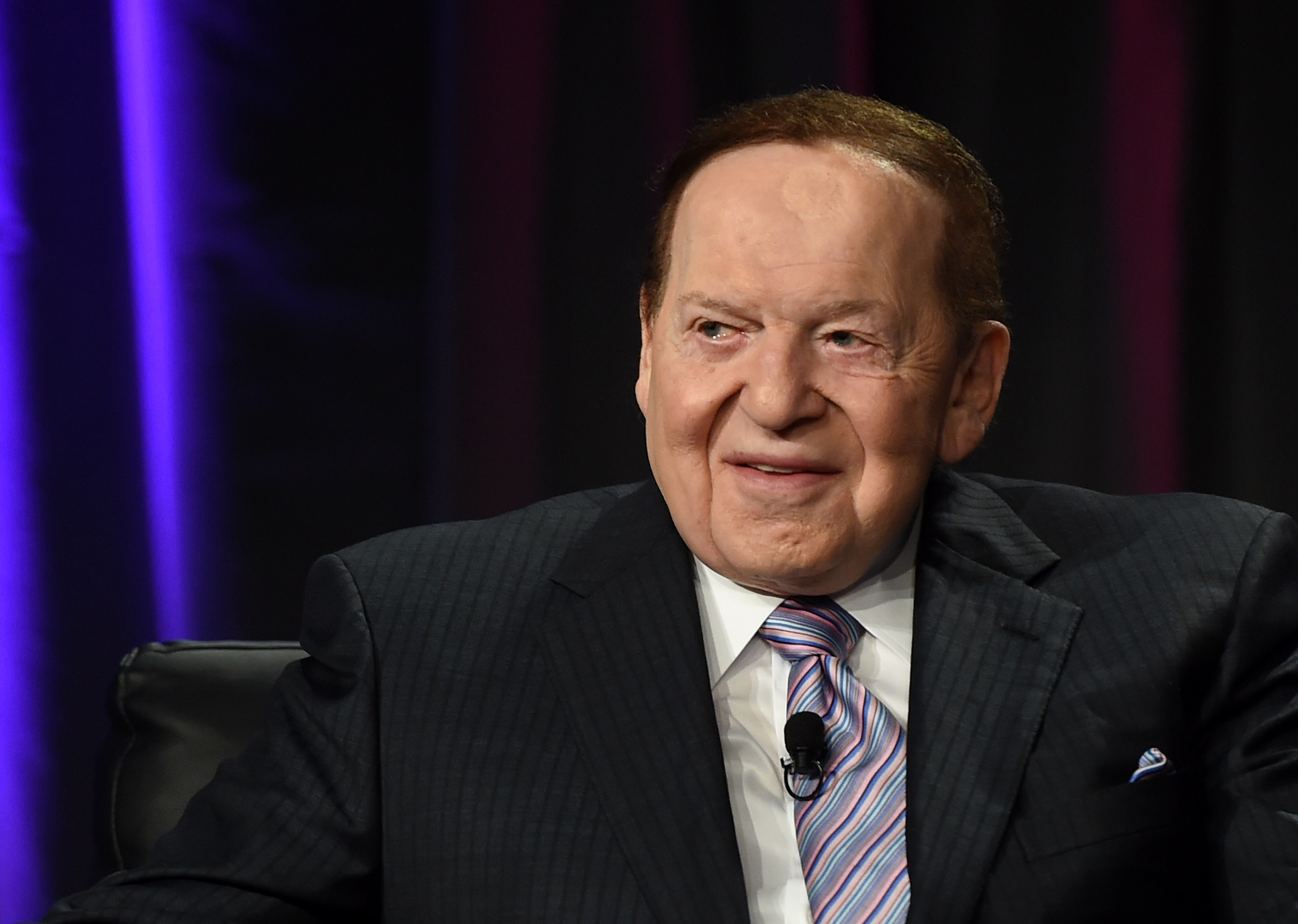 Las Vegas Sands Corp. Chairman and CEO Sheldon Adelson speaks at the Global Gaming Expo (G2E) 2014 at the Venetian Las Vegas in Las Vegas on Oct. 1, 2014