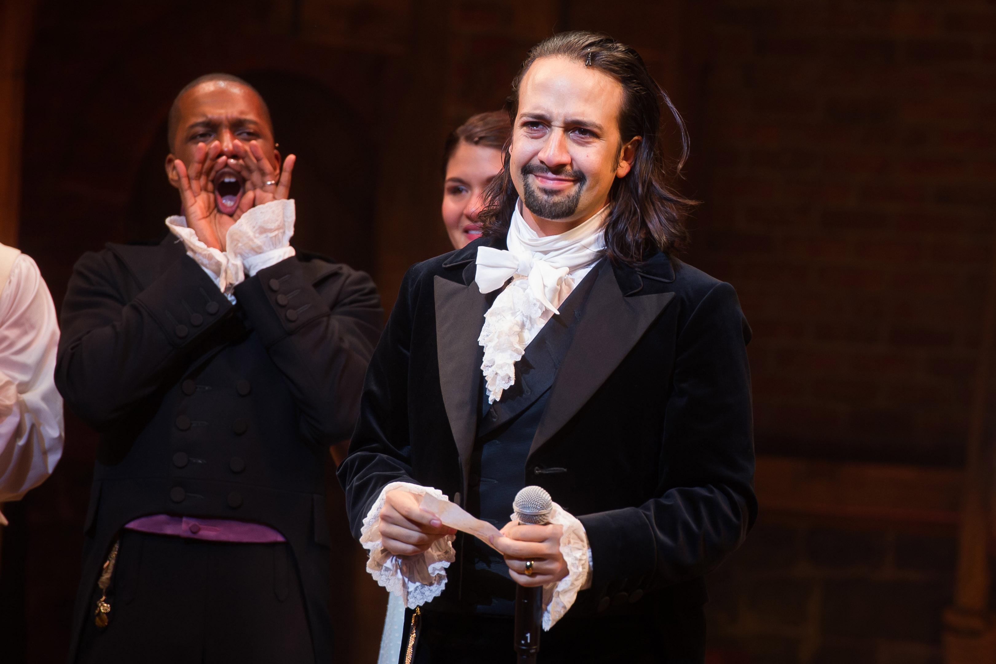 Lin-Manuel Miranda as Alexander Hamilton in Hamilton.