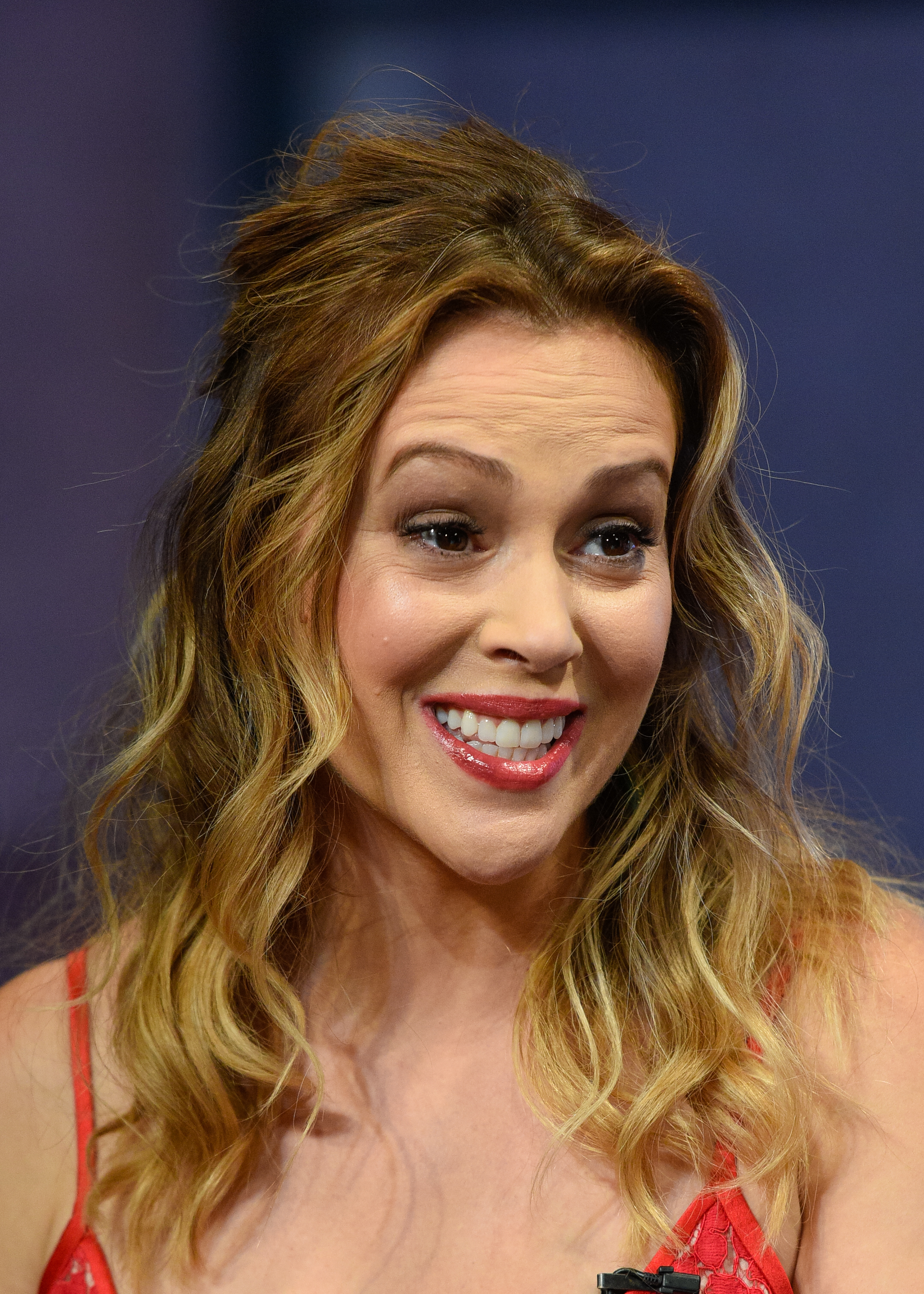 Alyssa Milano in Universal City, Calif, Sept. 8, 2015.
