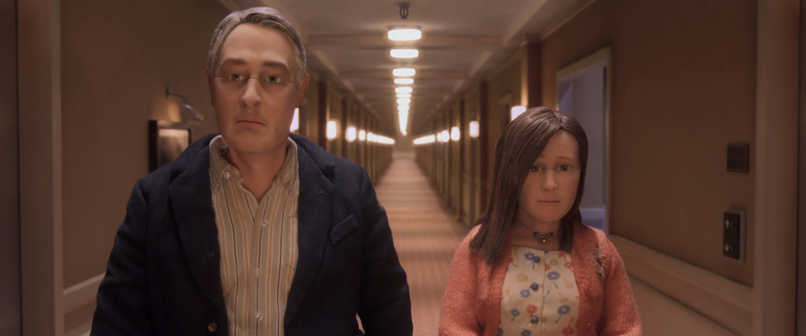 David Thewlis voices Michael Stone and Jennifer Jason Leigh voices Lisa in Anomalisa.