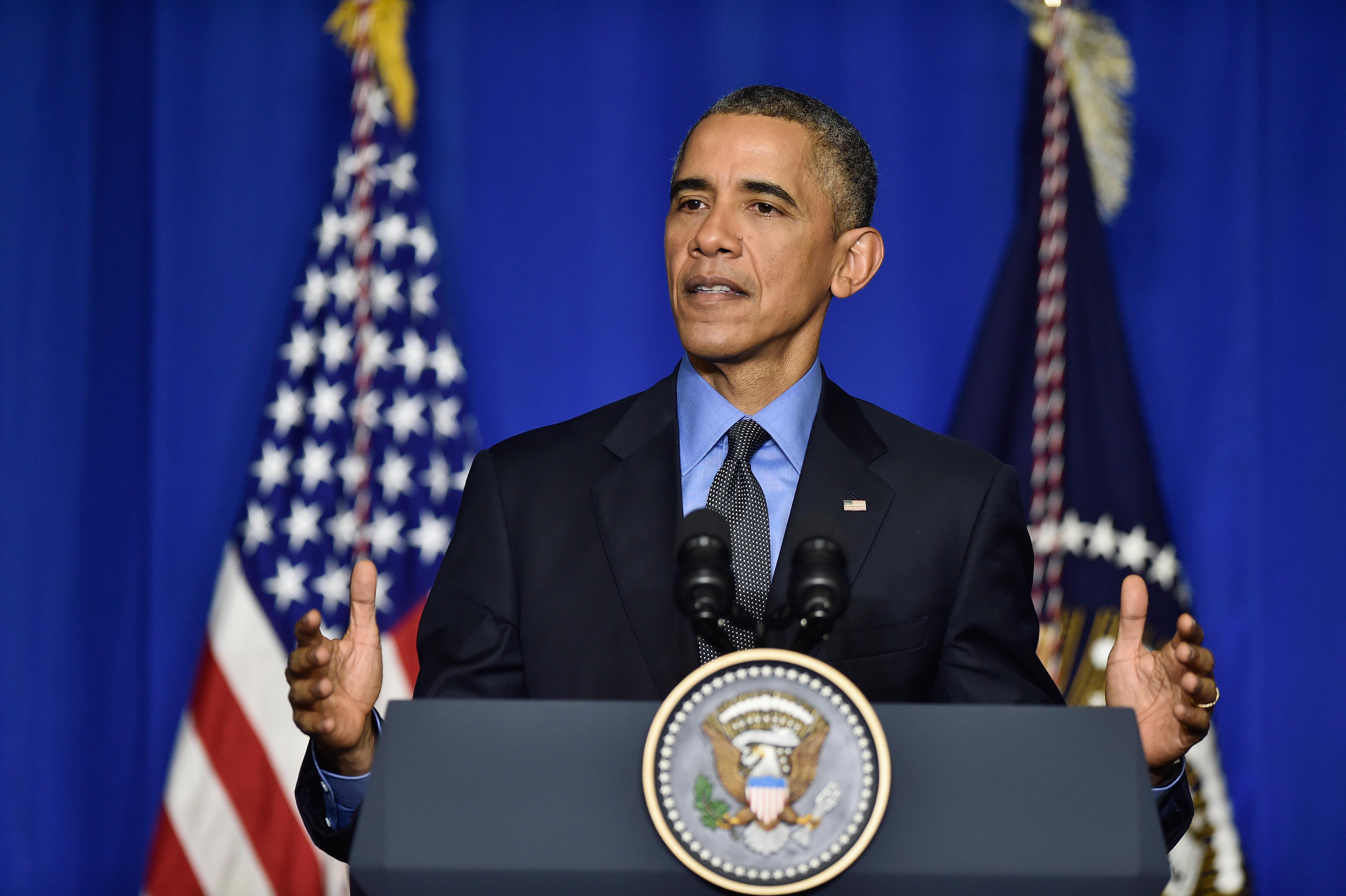 Barack Obama speaks on Dec. 1, 2015 in Paris, France.