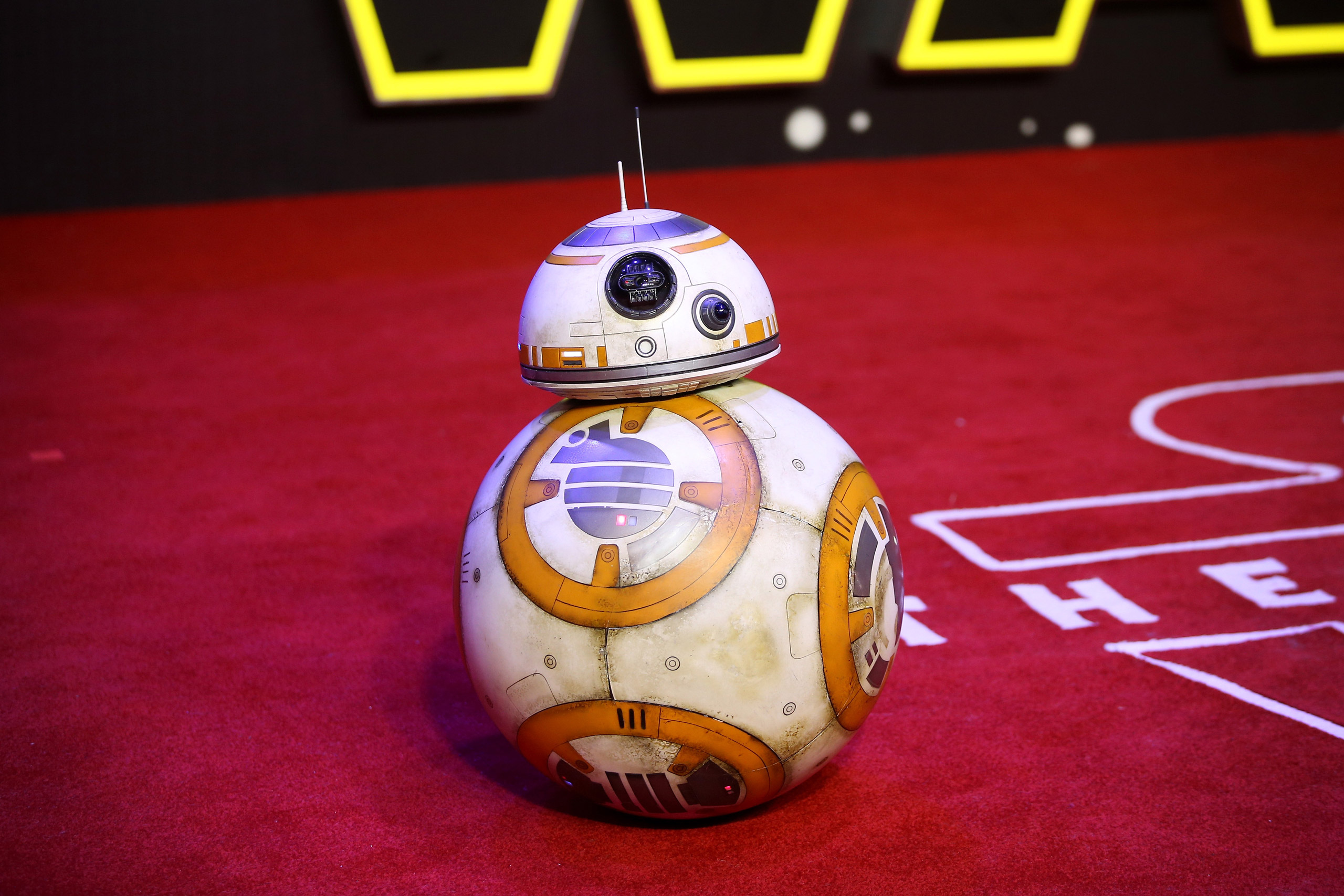 BB-8 attends the European Premiere of  Star Wars: The Force Awakens  at Leicester Square in London on Dec. 16, 2015.