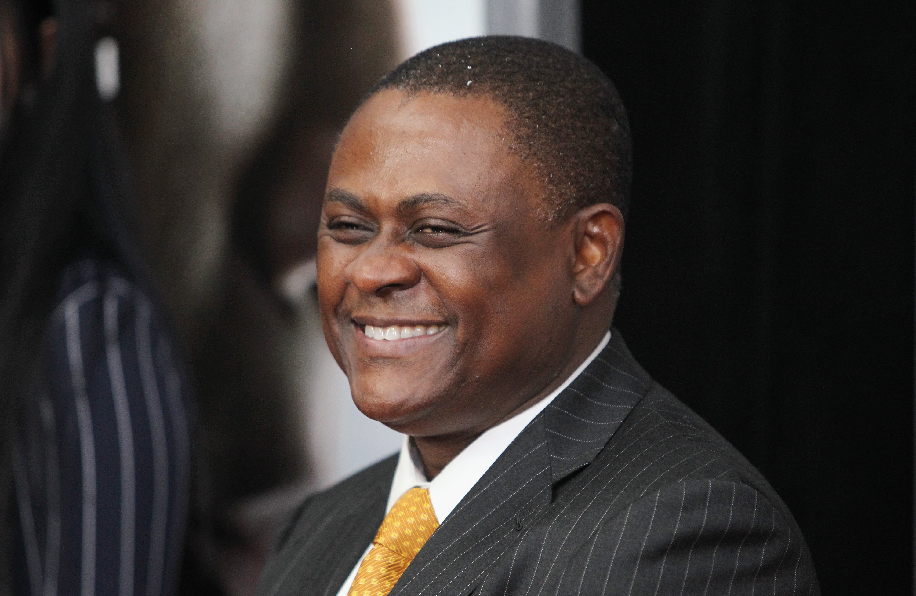 Dr. Bennet Omalu attends the  Concussion  premiere on Dec. 16, 2015 in New York City.