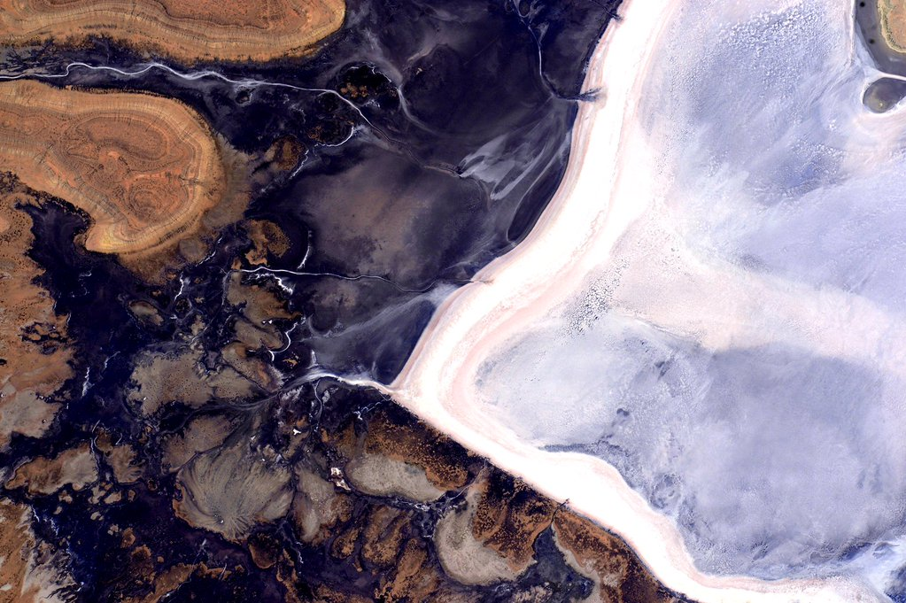 An image captured on Halloween, Oct. 31, 2015, from the International Space Station by astronaut Scott Kelly, who described what he saw as  ghostly and dark but beautiful too.