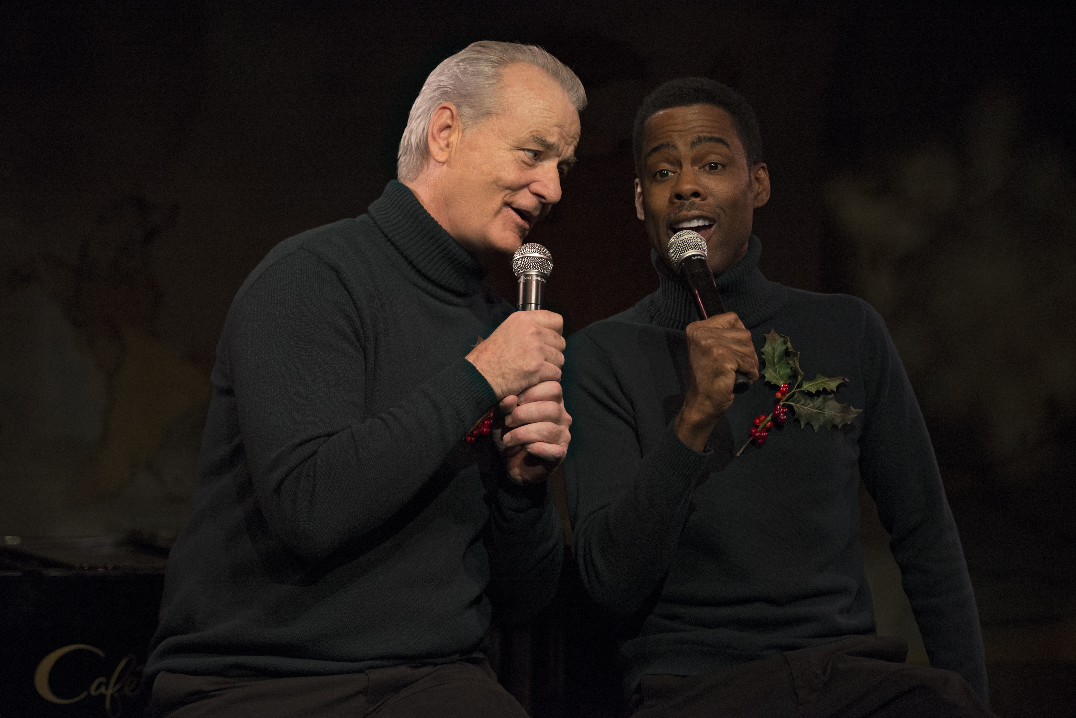 Bill Murray and Chris Rock in A Very Murray Christmas.