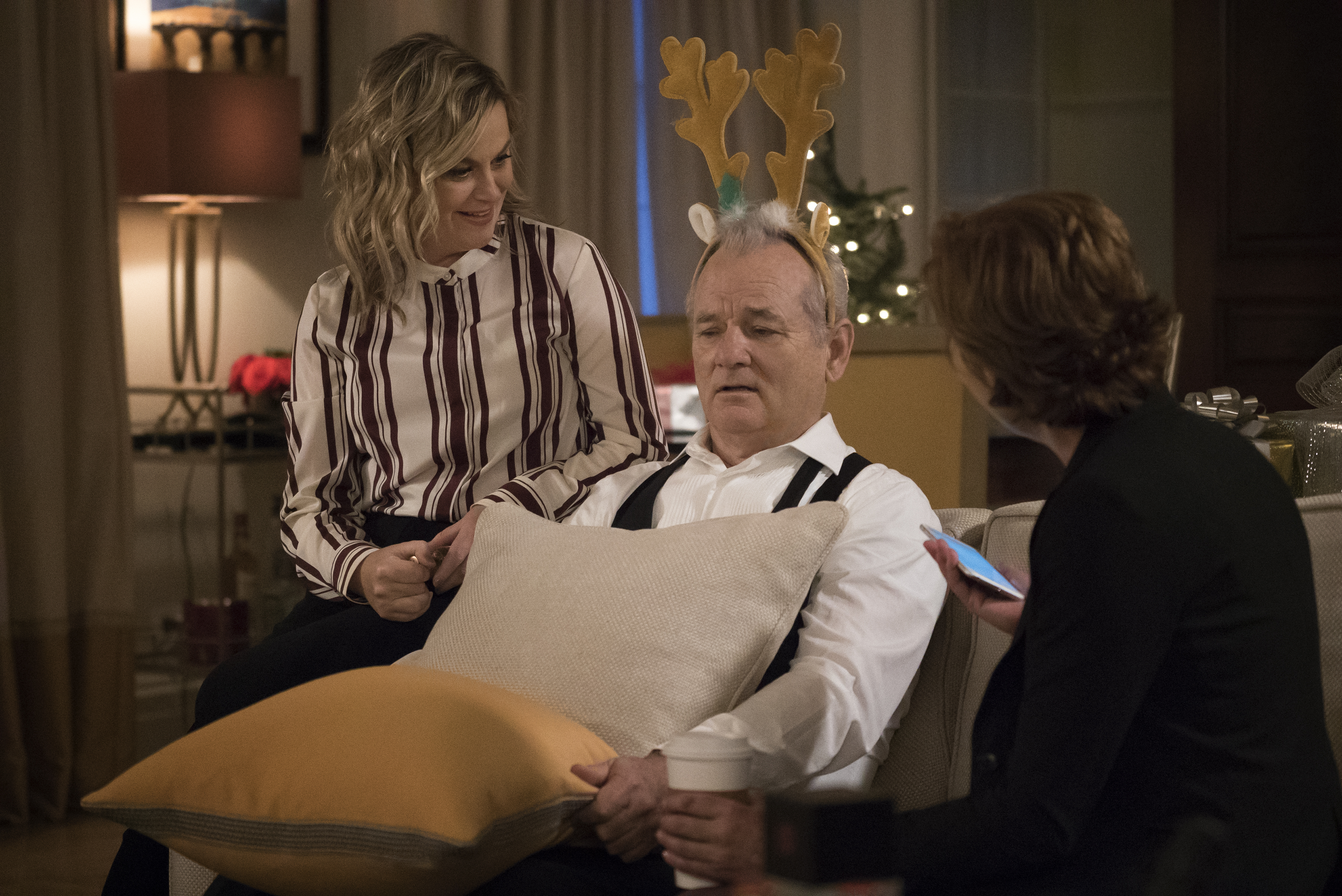Amy Poehler and Bill Murray in A Very Murray Christmas.