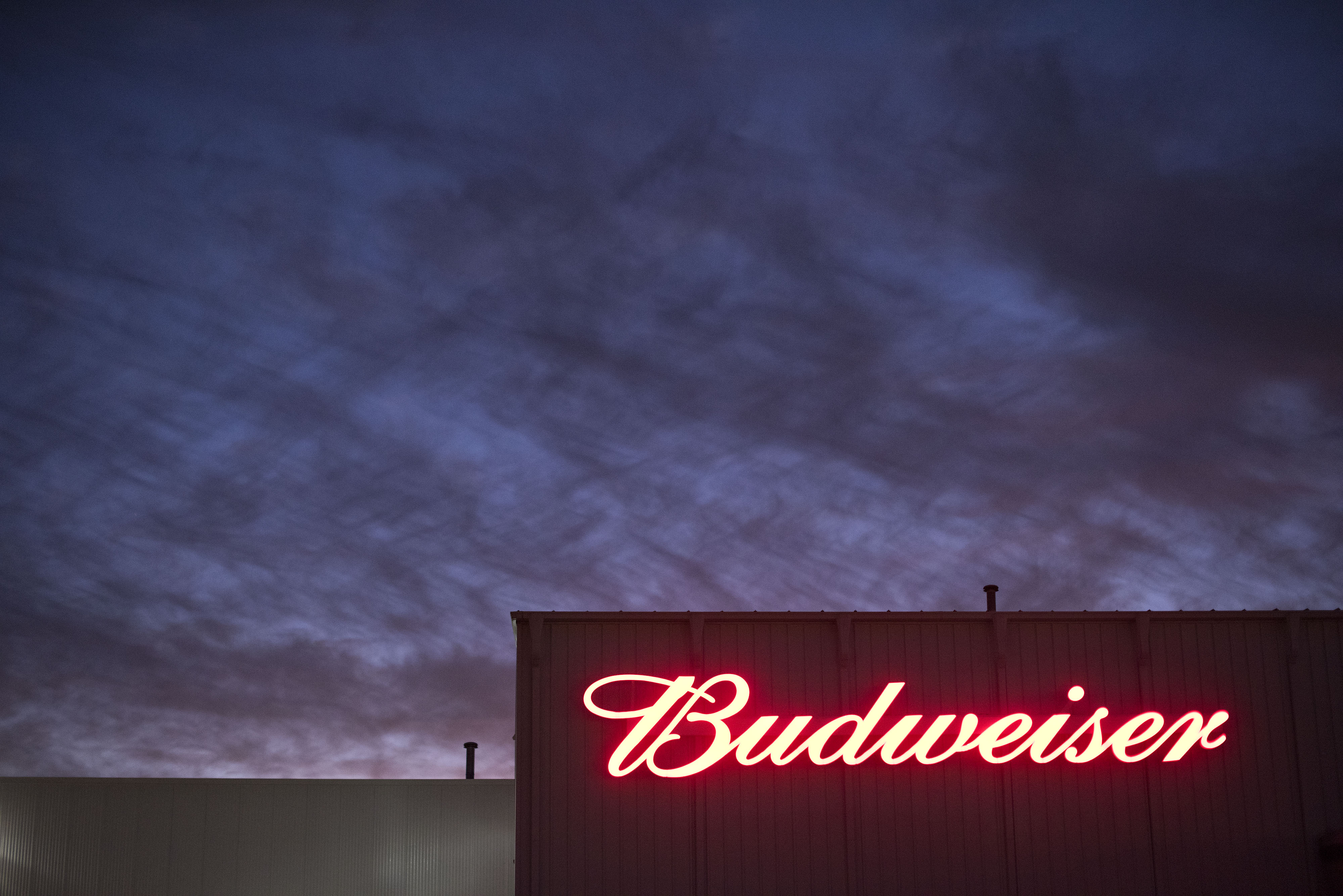 The Budweiser logo is displayed in Peoria, IL on Oct. 30, 2014.