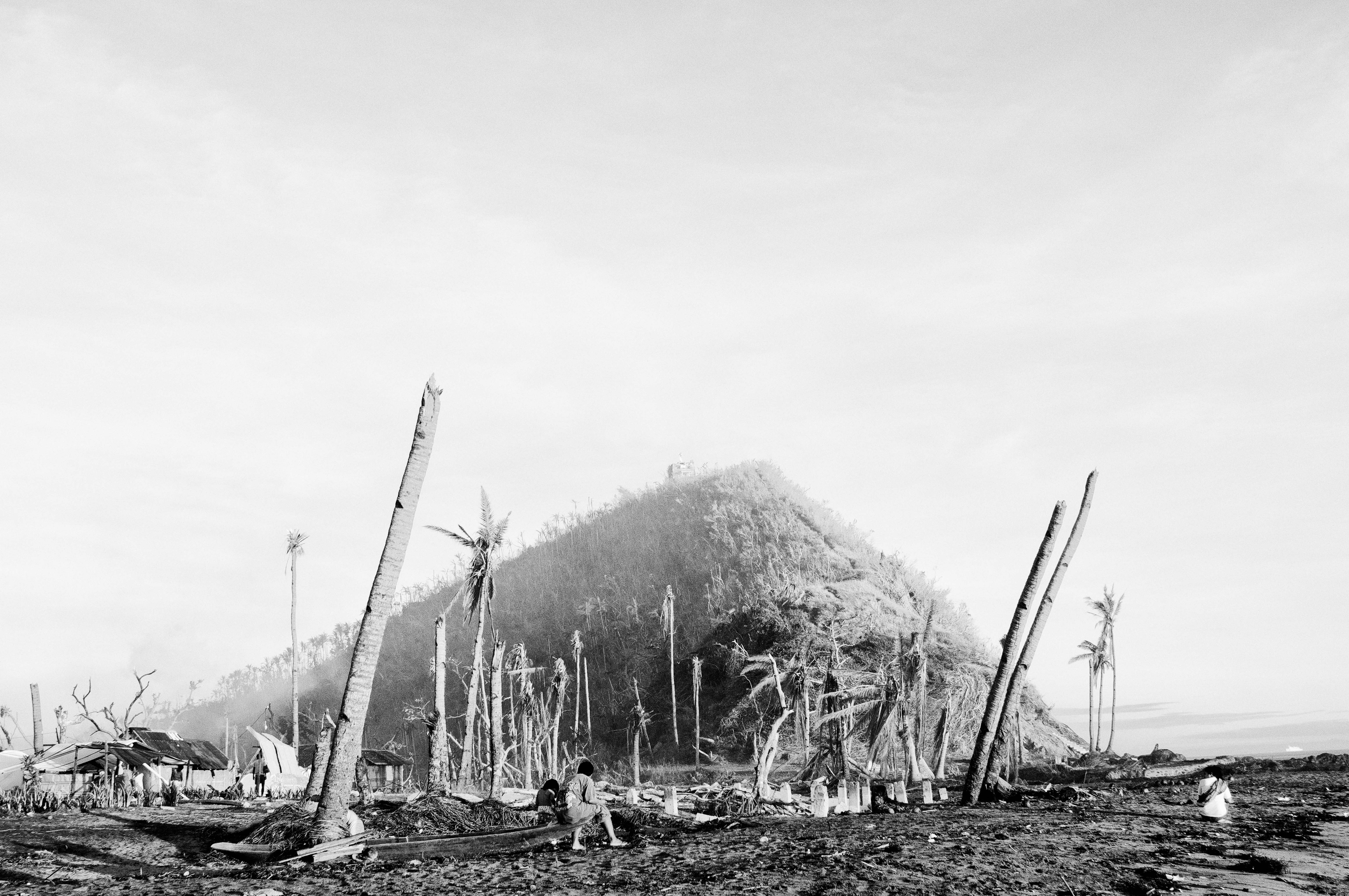 The coast of Tanauan in Leyte, Philippines, on Dec. 10, 2013 after Typhoon Haiyan, known locally as Typhoon Yolanda, struck the area.