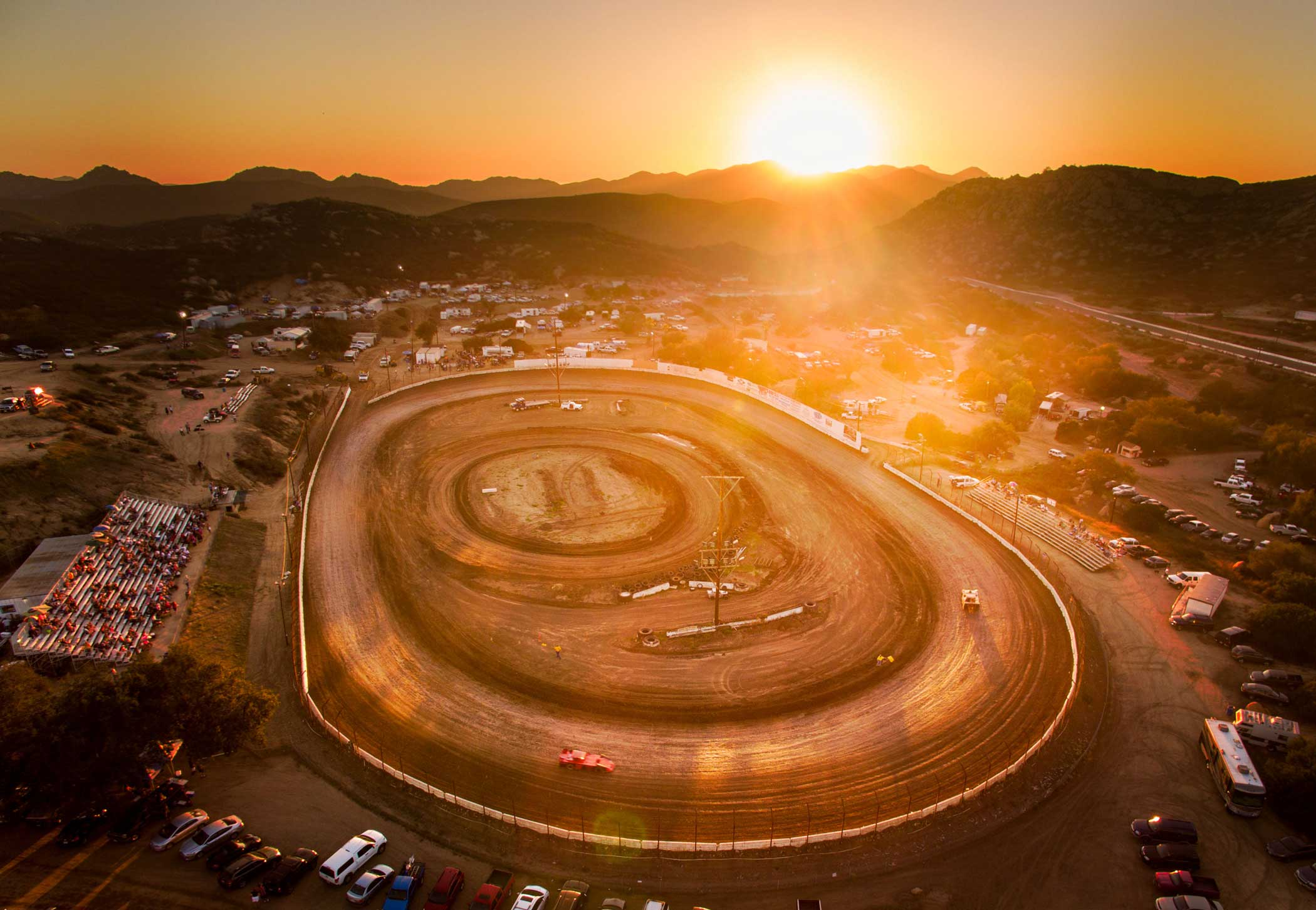 Barona Speedway in Lakeside, Calif.