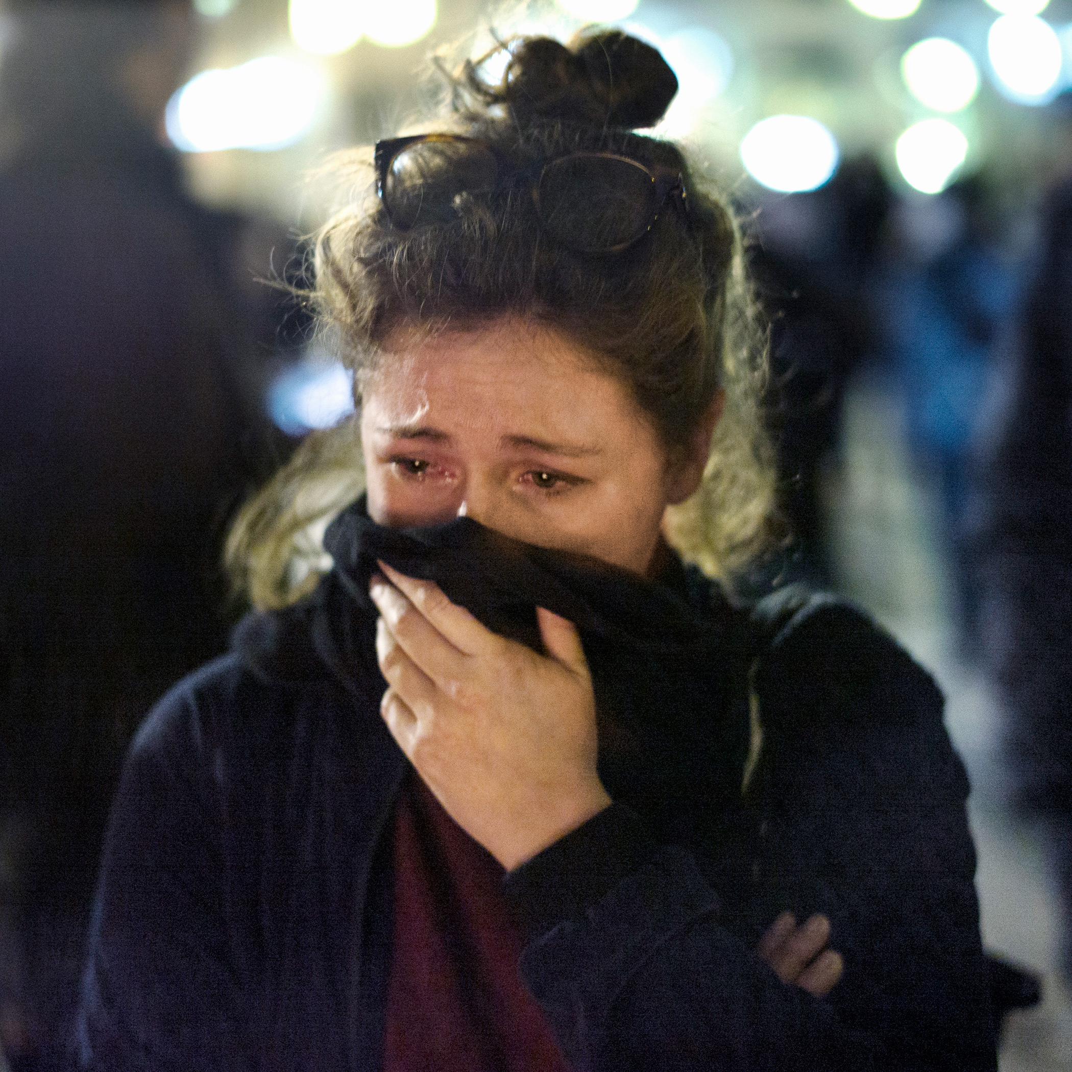 Parisians congregate at a makeshift memorial at Place de la Republique to mourn the victims of the terrorist attacks that stroke France capital city on the night of November 13, 2015. Paris, Nov. 16, 2015.From  See the Heartbreaking Portraits of Parisians in Mourning