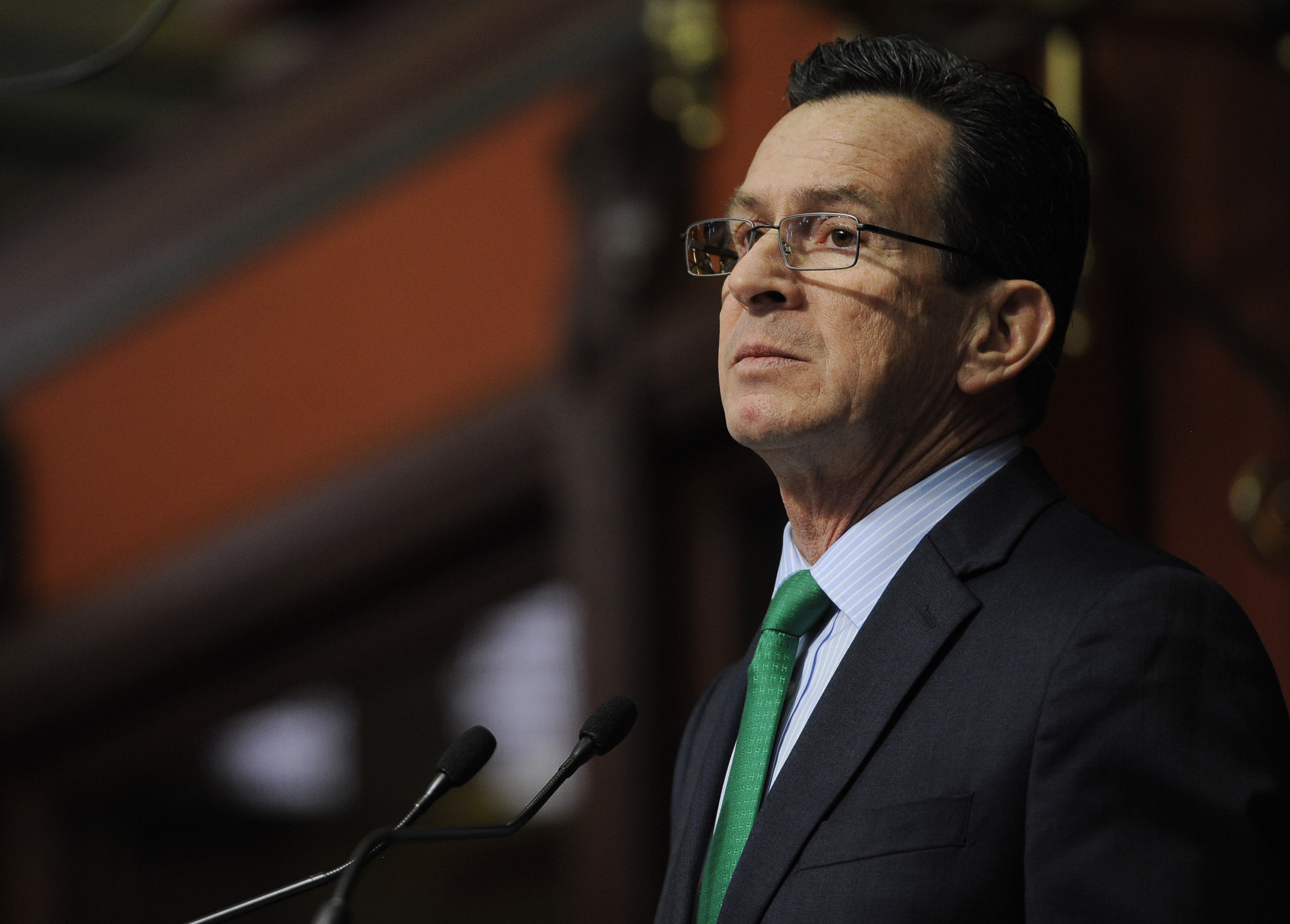 Dannel Malloy at the State Capitol on Feb. 18, 2015, in Hartford, Conn.