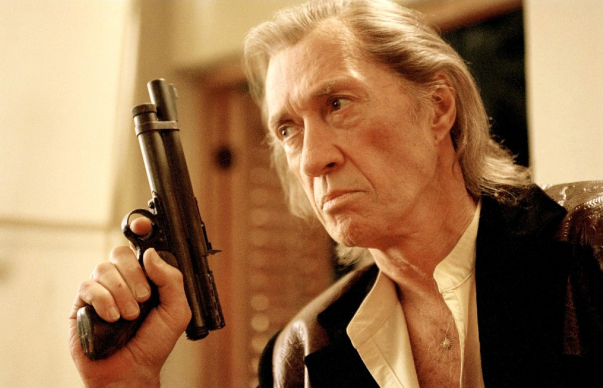 David Carradine as Bill in Kill Bill: Volume 1, 2003, and Kill Bill: Volume 2, 2004.