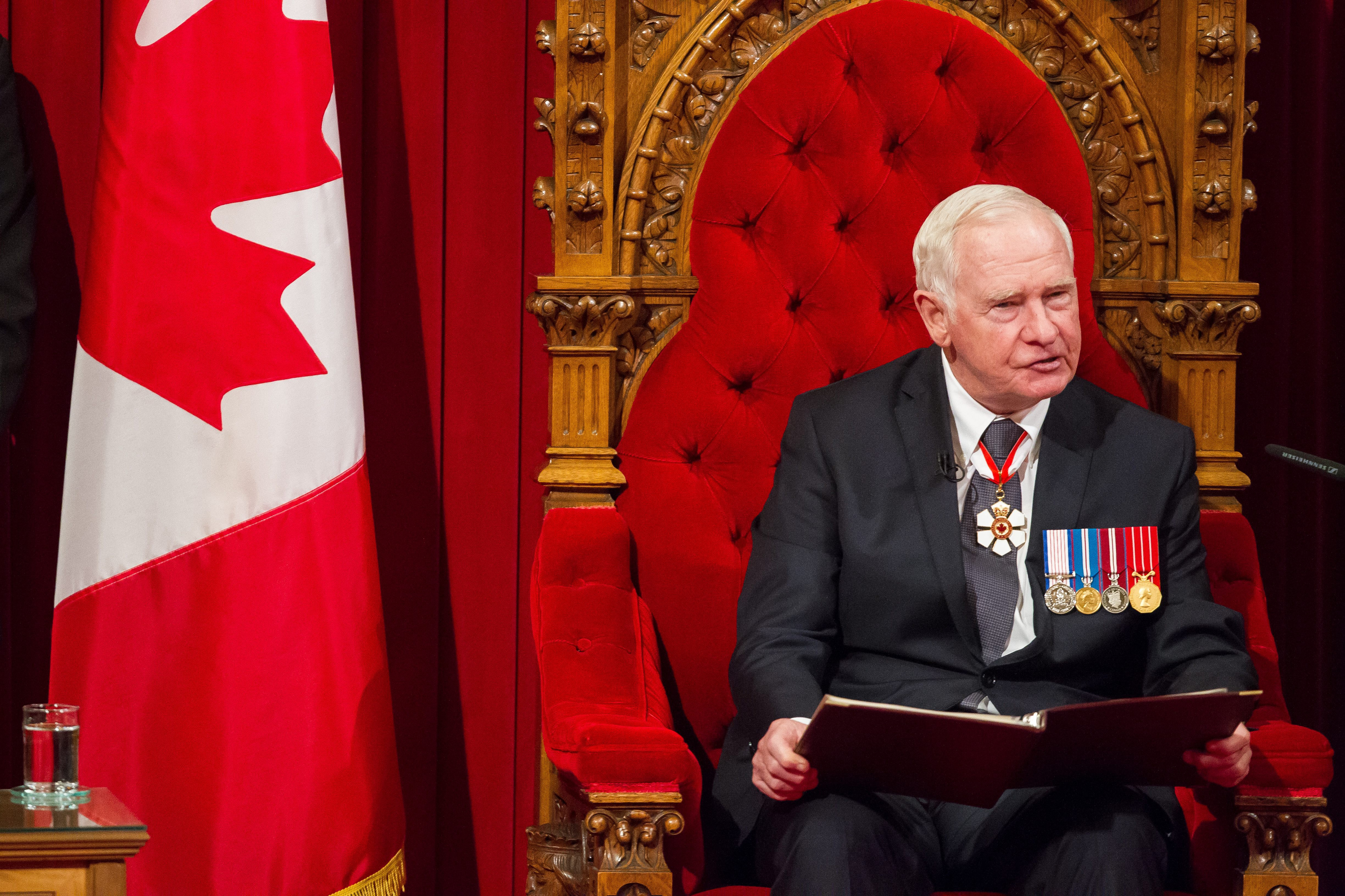 David Johnston delivers the Speech from the Throne to the start Canada's 42nd parliament in Ottawa, Canada on Dec. 4, 2015.