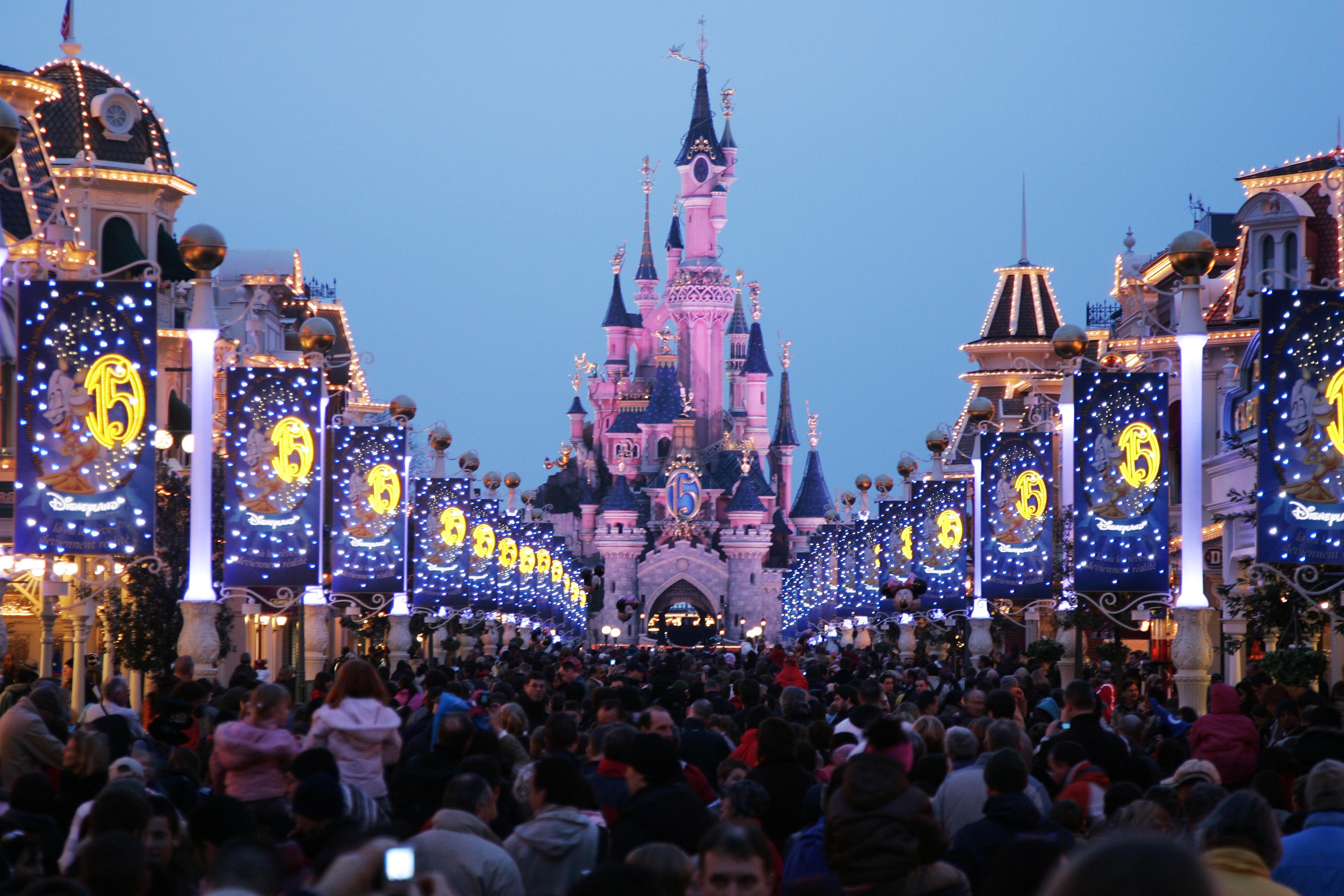 Sleeping Beauty Castle during Disneyland Paris - 15th Anniversary Celebration at Disneyland Paris in Marne-La-Vallee / Paris, France.
