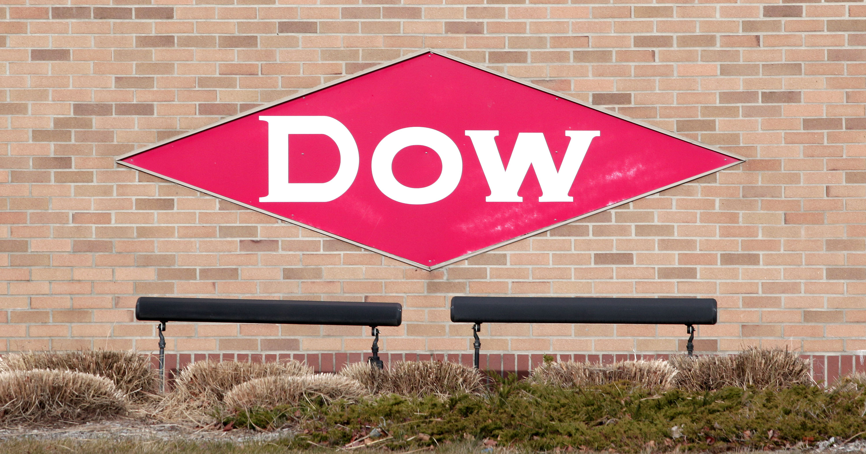 The Dow Chemical logo is shown on a wall at its corporate headquarters Dec. 10th, 2015 in Midland, Michigan.