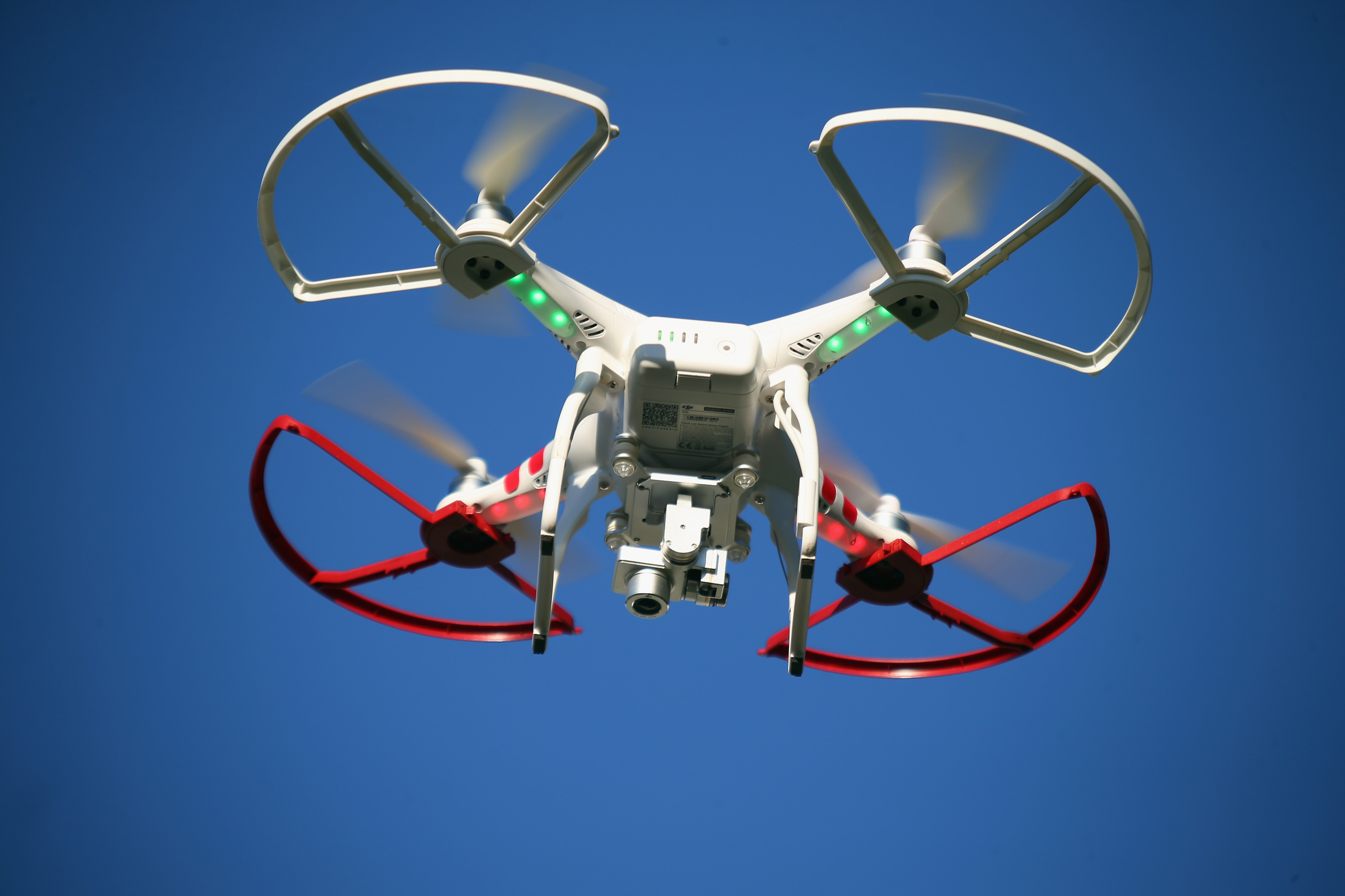 A drone is flown for recreational purposes in the sky above Old Bethpage, New York on Sept. 5, 2015.