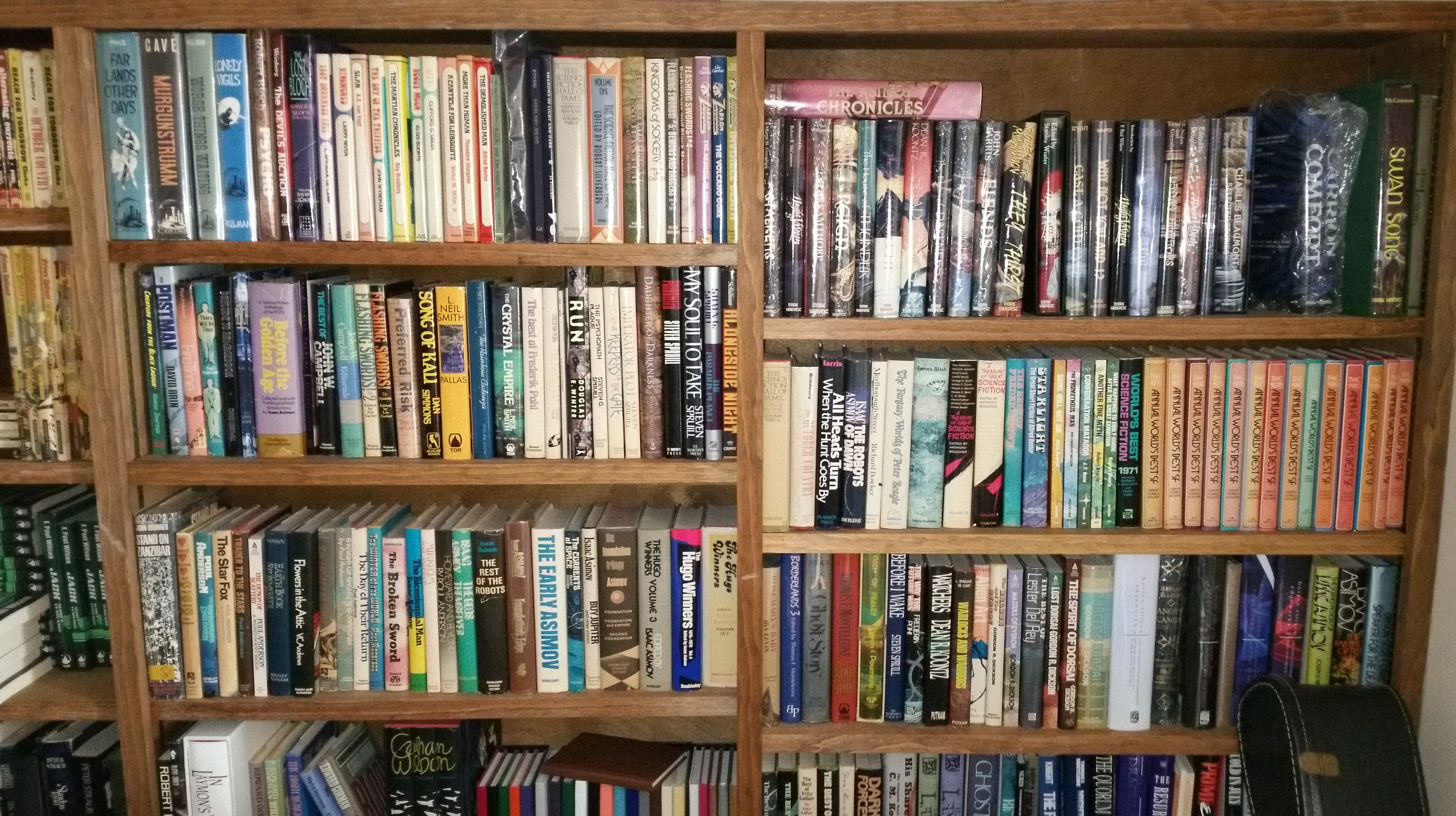 American author F. Paul Wilson uploaded an impressive mutli-shelf  shelfie  through the Shelfie app.