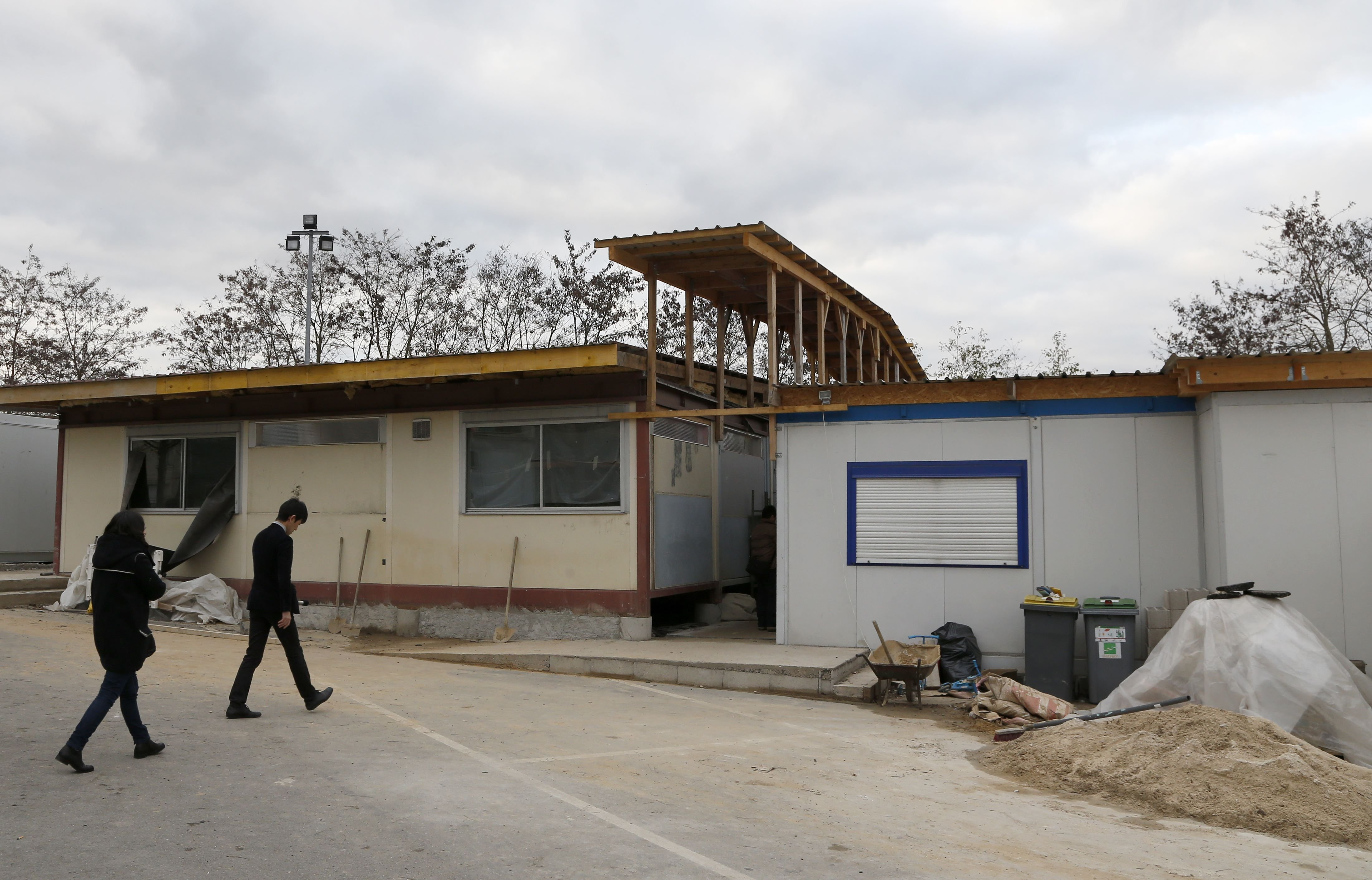 The Mosque of Lagny-sur-Marne has been recently closed as a result of the introduction of a state of emergency, in an eastern Paris suburb on Dec. 2, 2015.