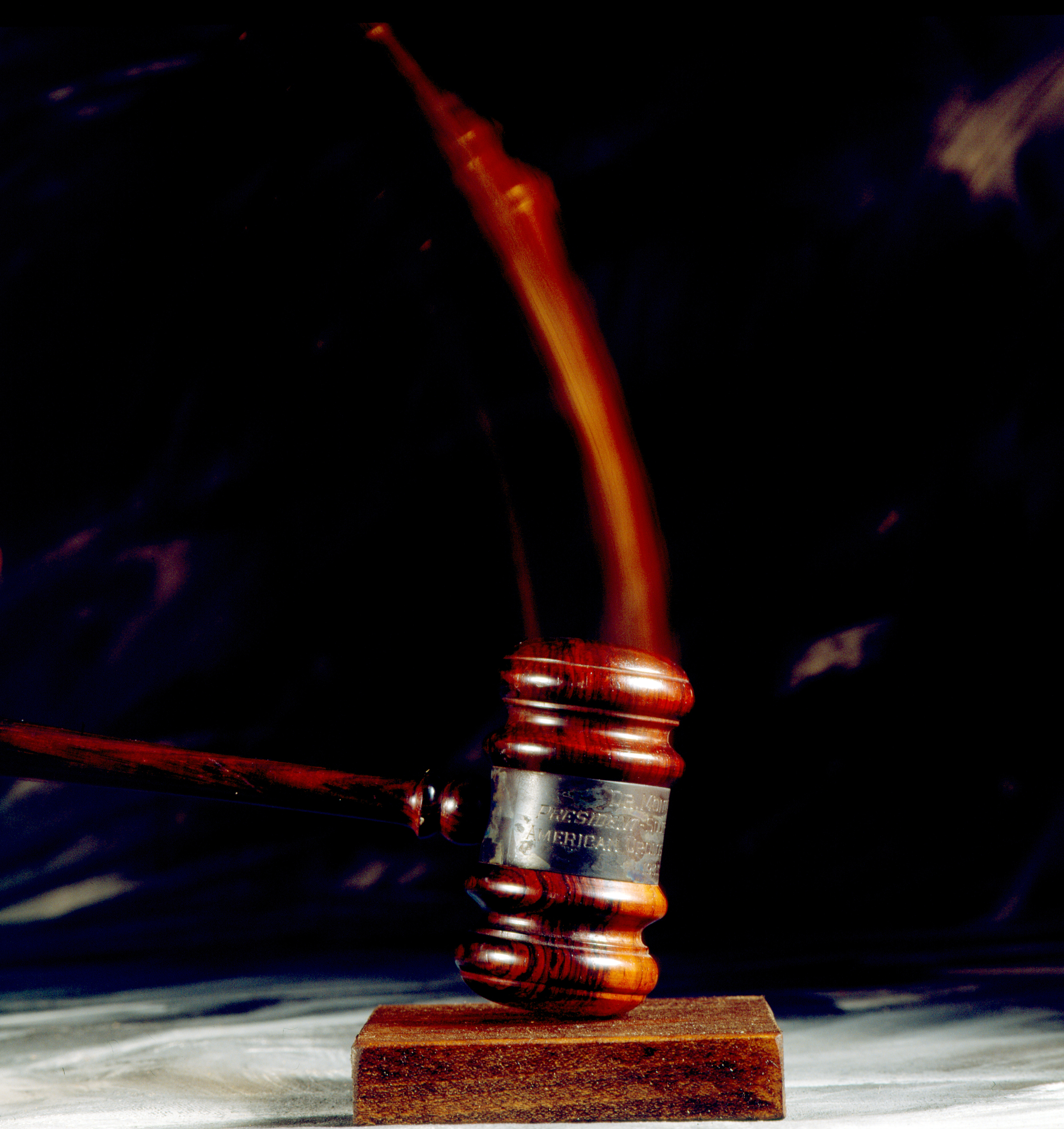Gavel Striking Surface. Education Images—UIG via Getty Images