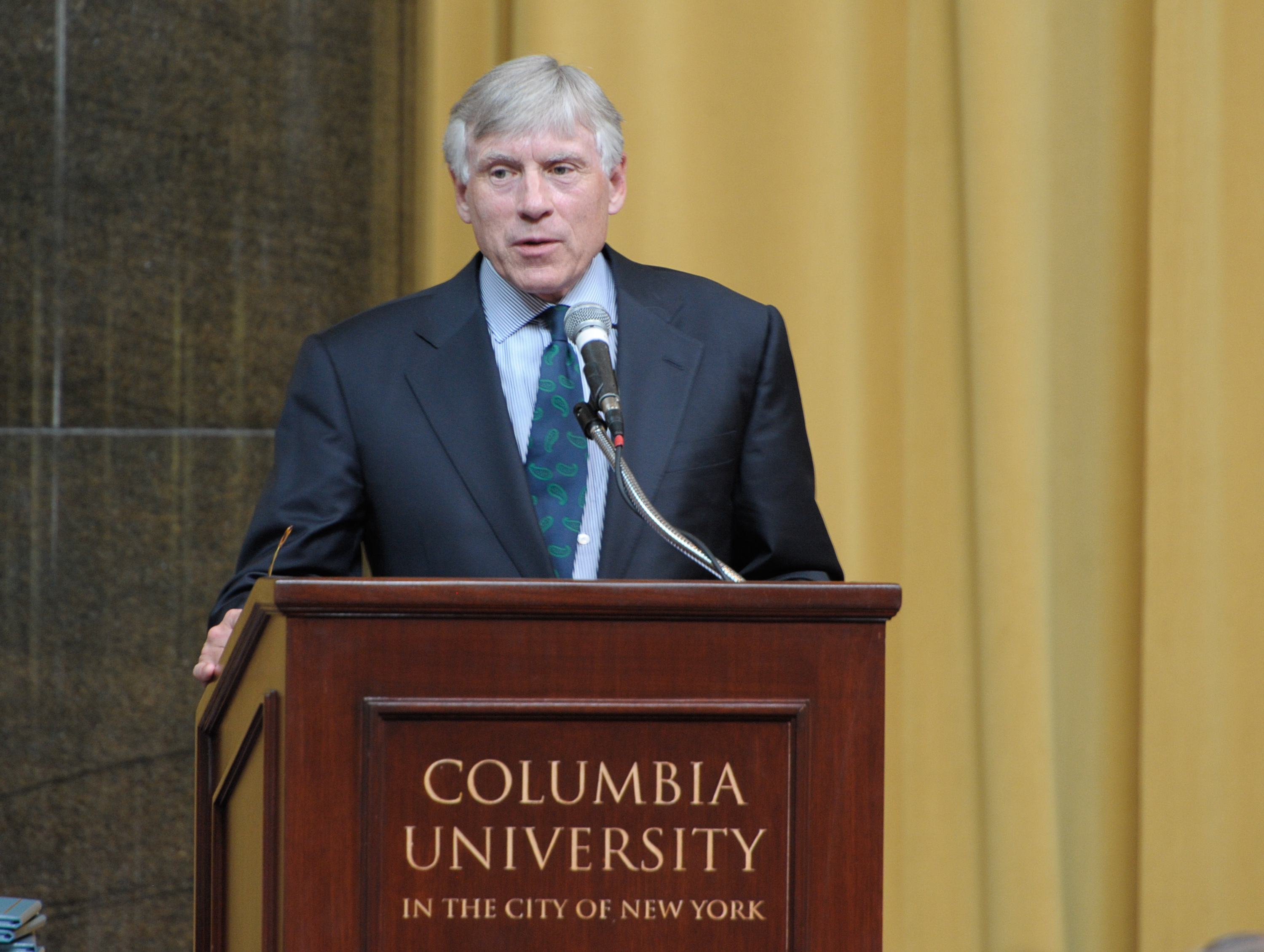 Lee C. Bollinger speaks  at  the 7th Annual Pulitzer Prizes in Journalism, Letters, Drama and Music Winners Luncheon in New York City on May 30, 2013.