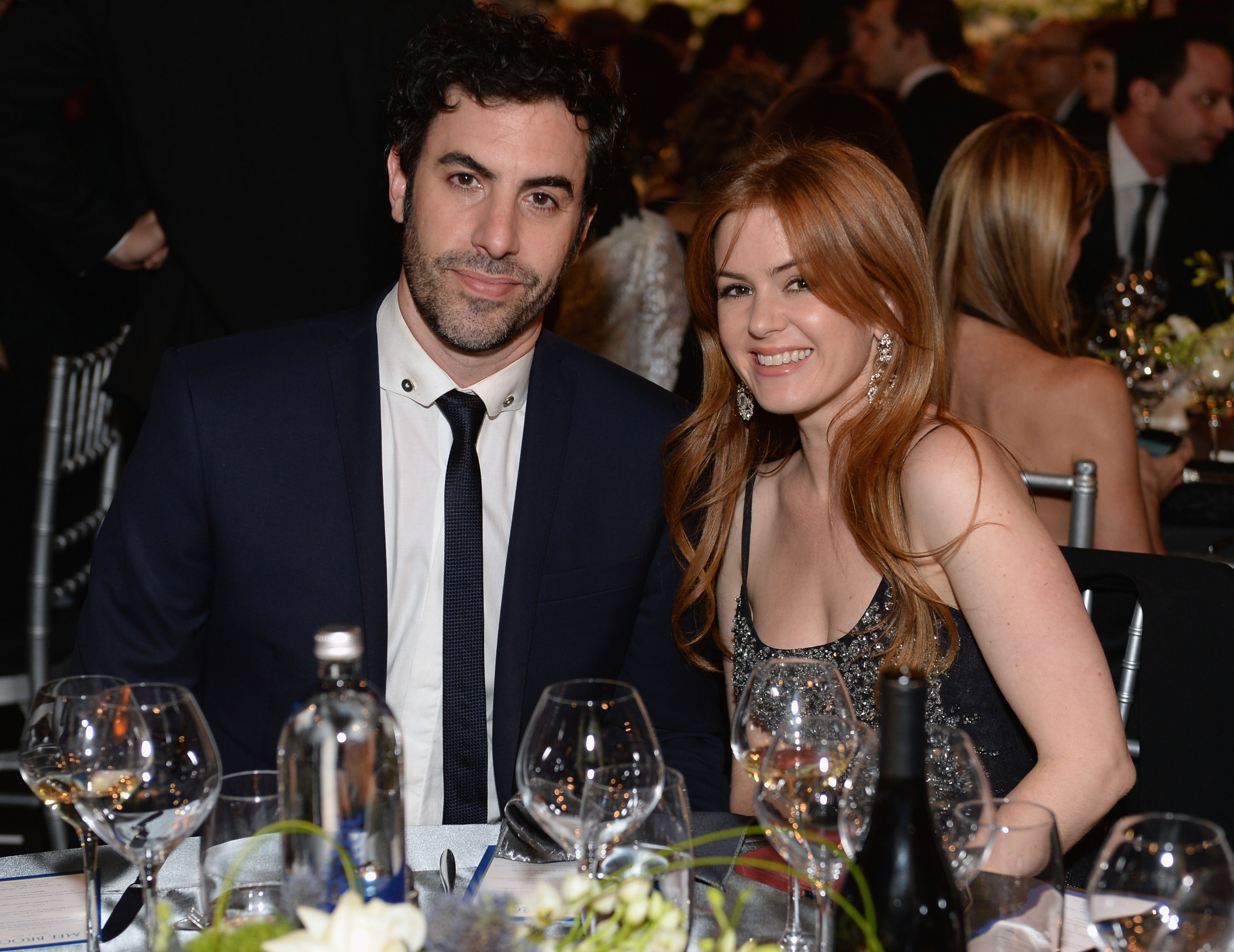 Actors Sacha Baron Cohen and Isla Fisher attend 41st AFI Life Achievement Award at Dolby Theatre on June 6, 2013 in Hollywood.