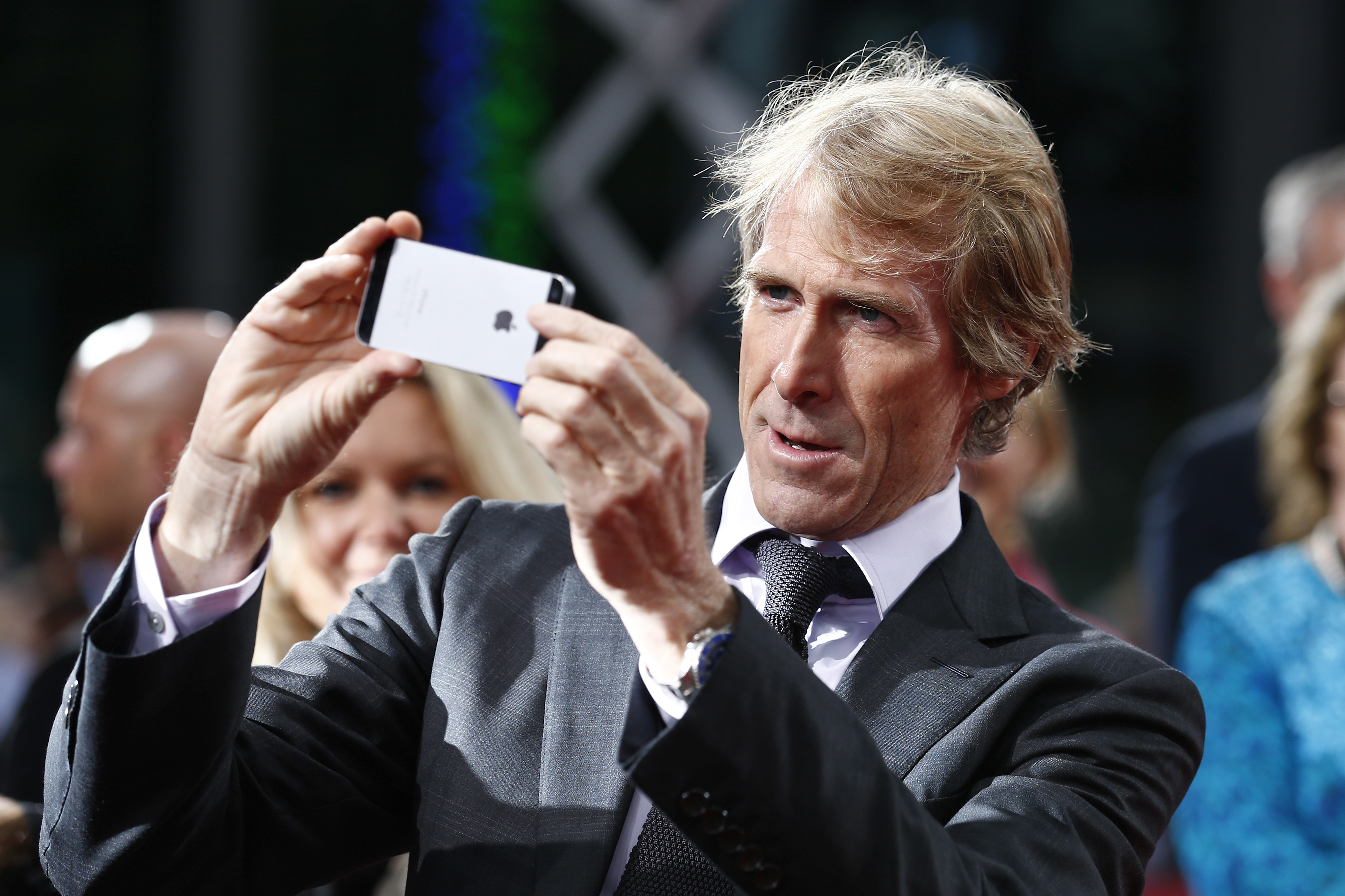 Director Michael Bay attends the european premiere of 'Transformers: Age of Extinction' at Sony Centre on June 29, 2014 in Berlin, Germany.