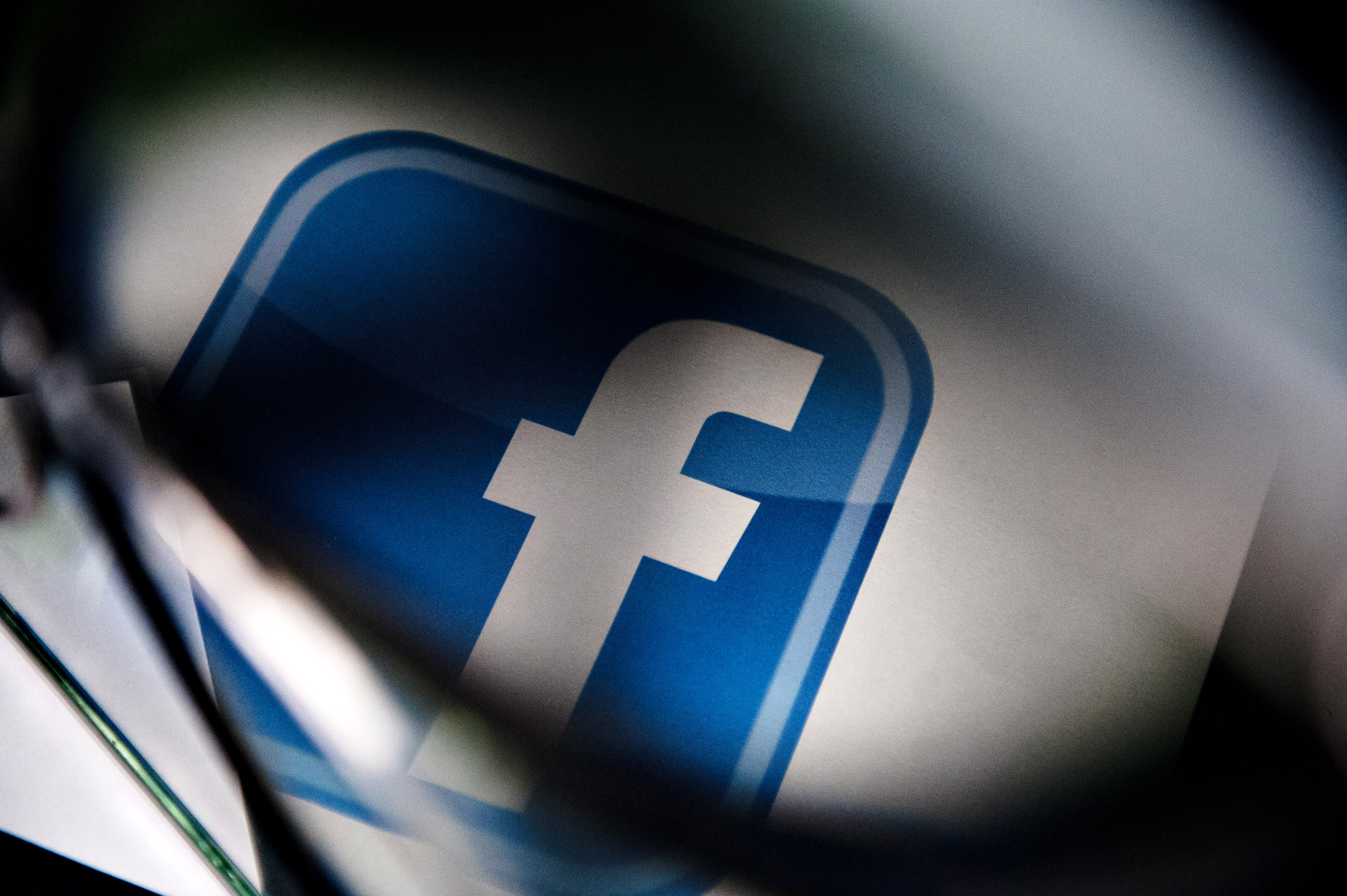 A Facebook logo is displayed for a photograph in Tiskilwa, Illinois, U.S.,Jan. 29, 2013.