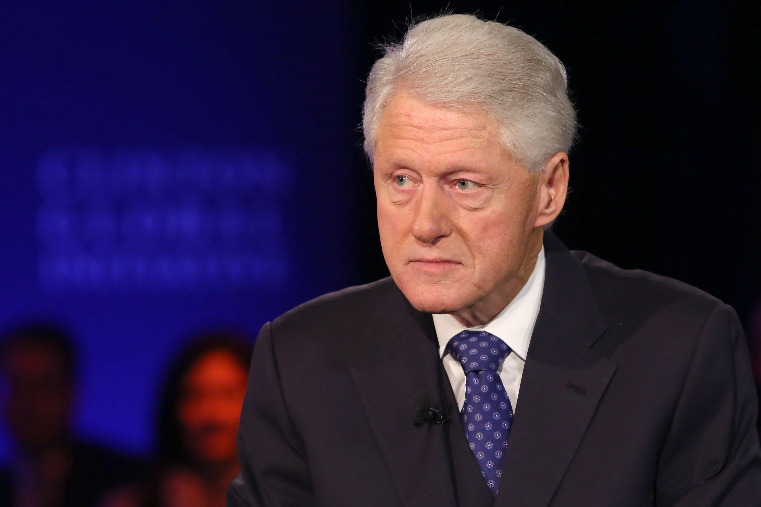 Former U.S. President Bill Clinton at the Clinton Global Initiative Annual Meeting, in New York City on September 29, 2015.