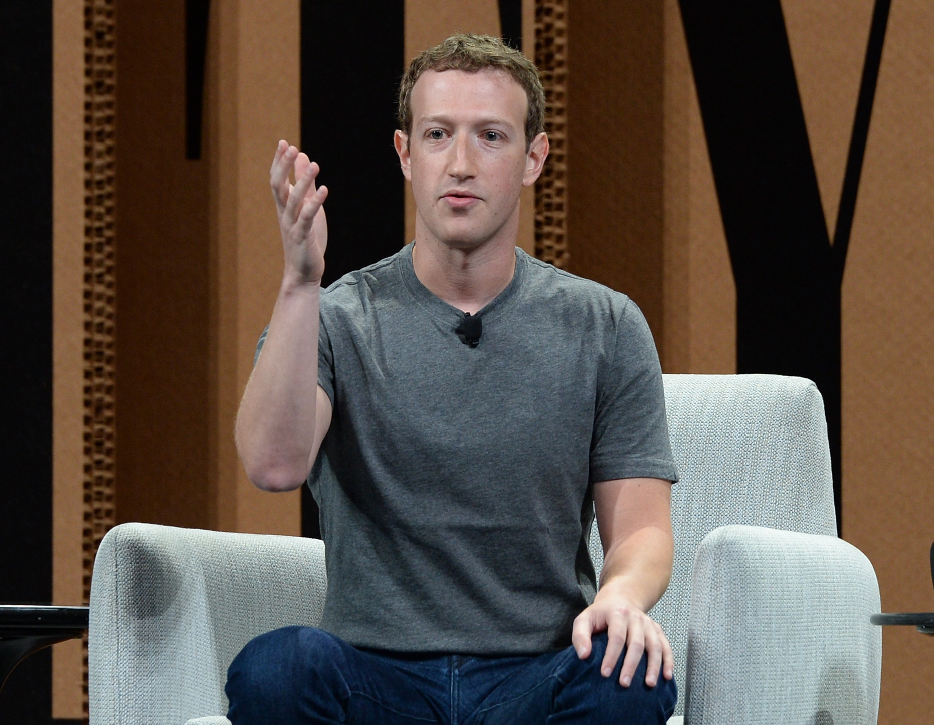Mark Zuckerberg speaks onstage at the Vanity Fair New Establishment Summit at Yerba Buena Center for the Arts on October 7, 2015 in San Francisco, California.