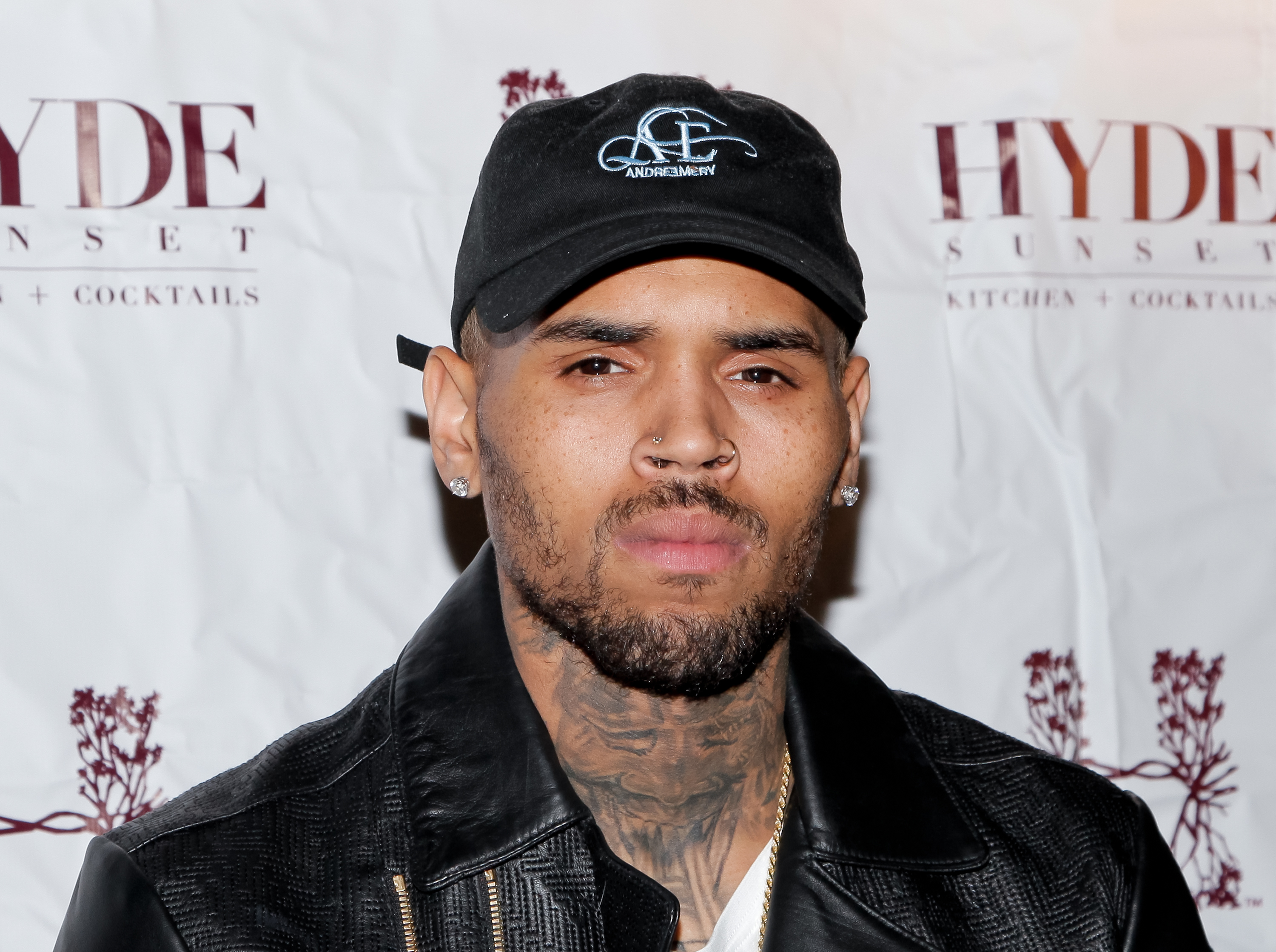 Chris Brown attends  The Lost Warhols  Collection exhibit at HYDE Sunset: Kitchen + Cocktails on Nov. 4, 2015, in West Hollywood, Calif.