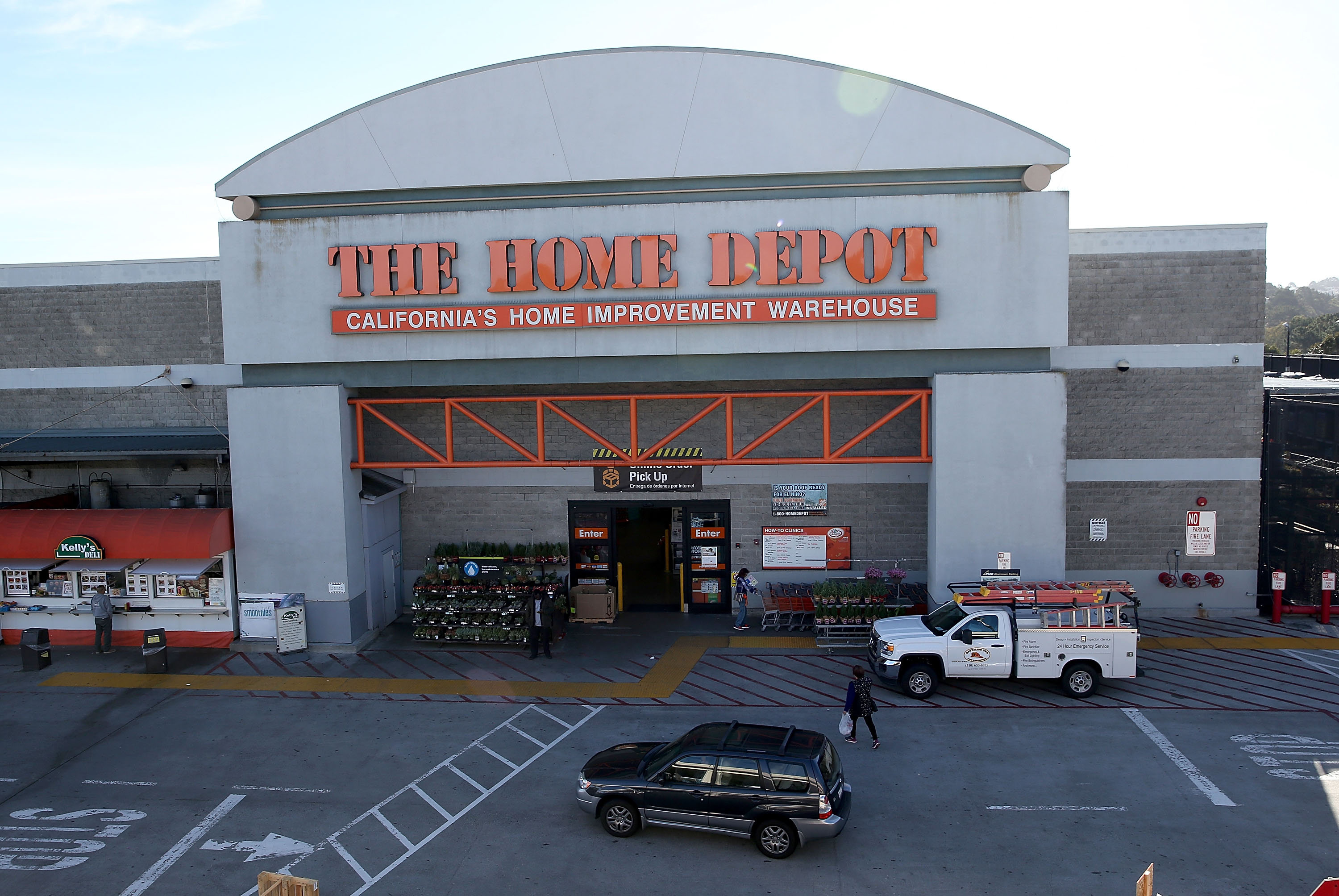 A view of a Home Depot store on November 17, 2015 in Colma, California. Tatiana Duva-Rodriguez was granted 18 months probation after shooting at two suspected shoplifters in a Home Depot parking lot.