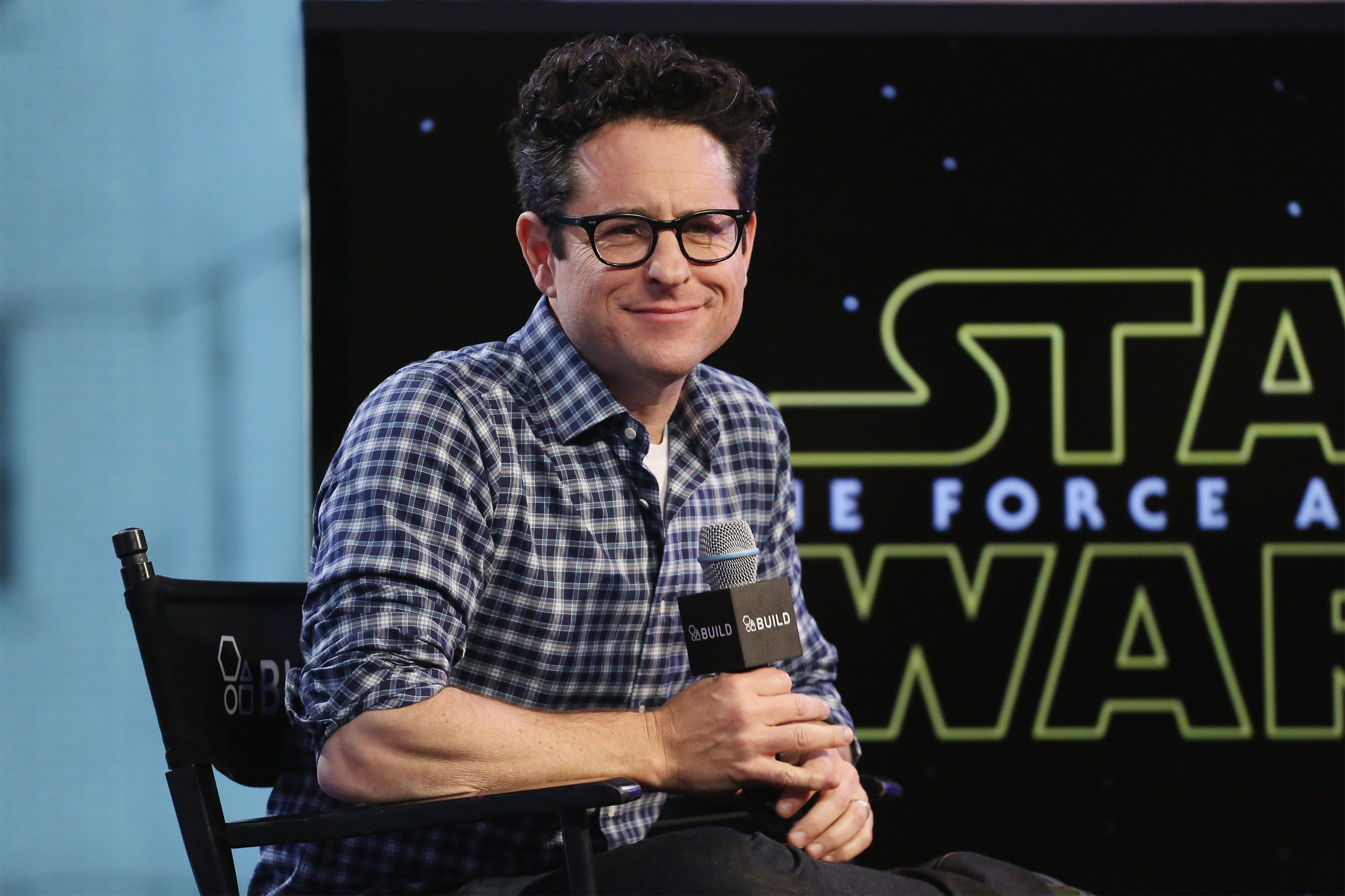 J.J. Abrams speaks at 'Star Wars: The Force Awakens' during the BUILD Series at AOL Studios In New York on Nove. 30, 2015 in New York City.