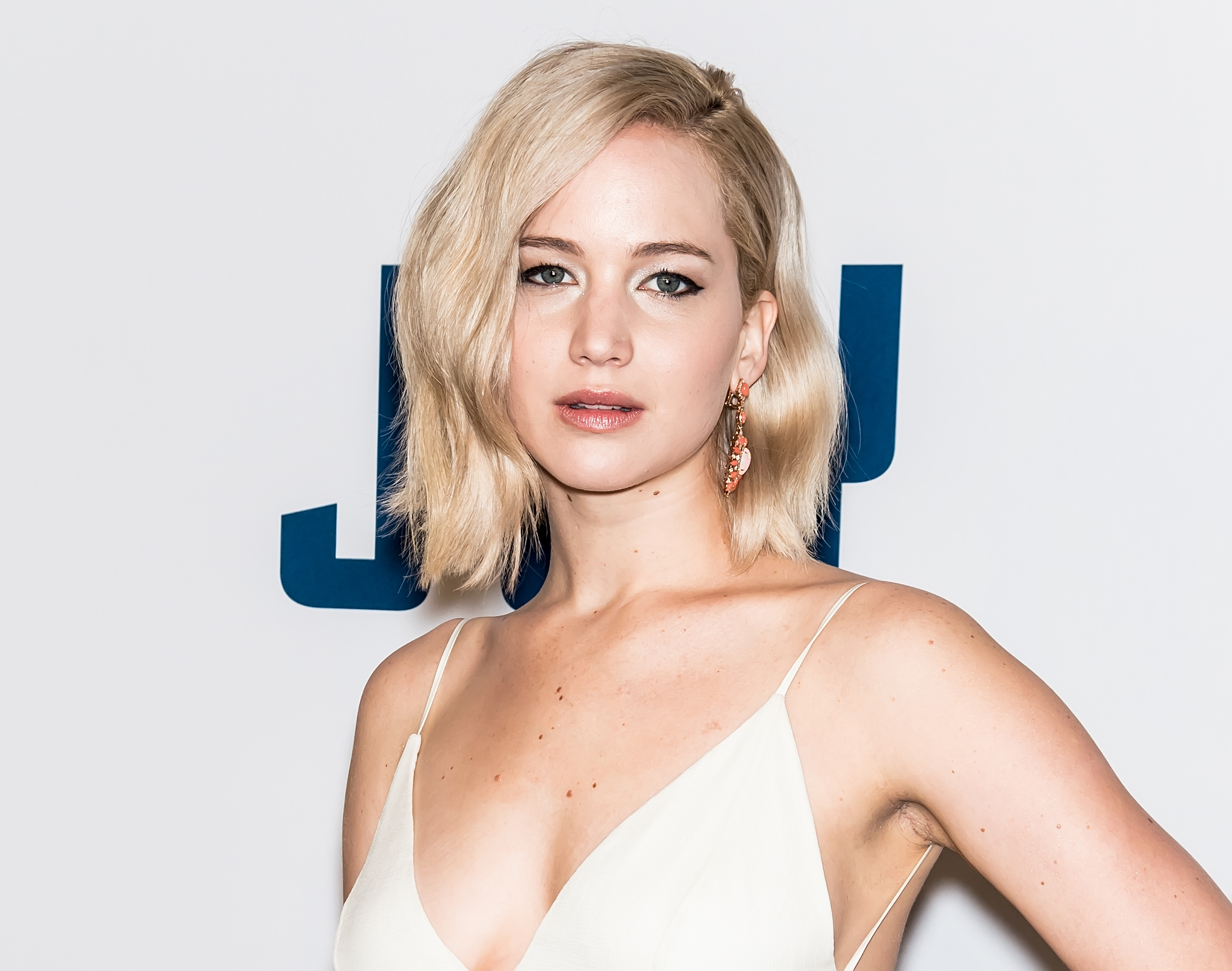 Actress Jennifer Lawrence attends the 'Joy' New York premiere at Ziegfeld Theater on December 13, 2015, in New York City.
