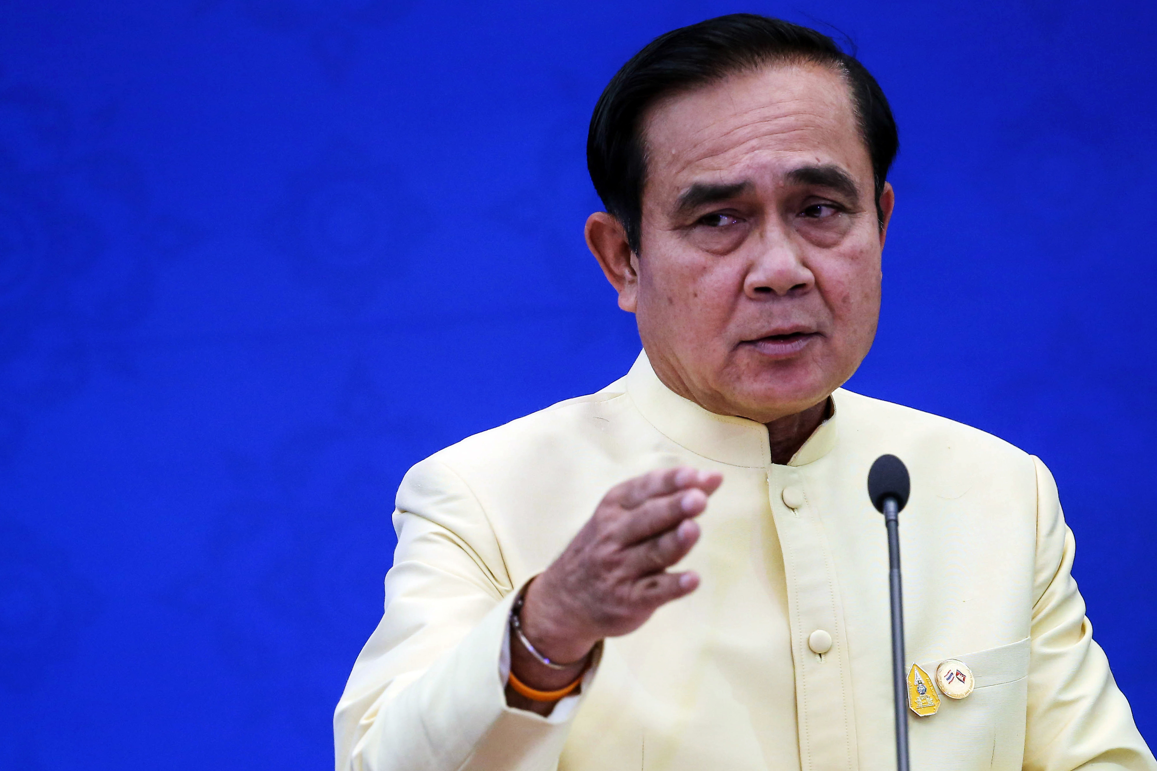 Prayuth Chan-Ocha speaks during a news conference in Bangkok on Dec. 19, 2015