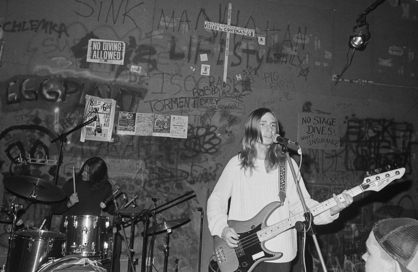 Green Day, then known as Sweet Children, perform at 924 Gilman Street on Nov. 26, 1988 in Berkeley, Calif.