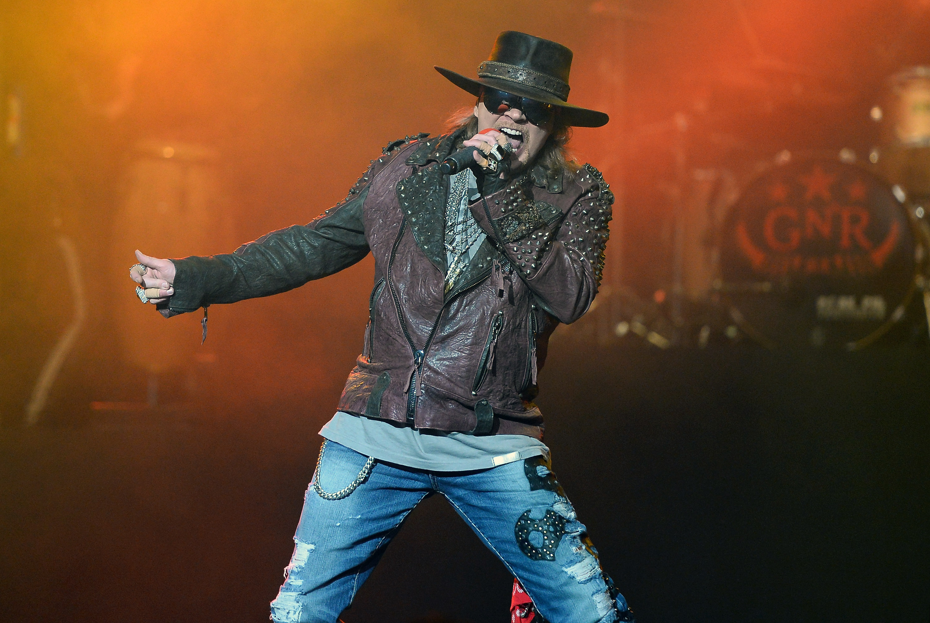Singer Axl Rose of Guns N' Roses performs at The Joint inside the Hard Rock Hotel & Casino on May 21, 2014 in Las Vegas, Nevada.